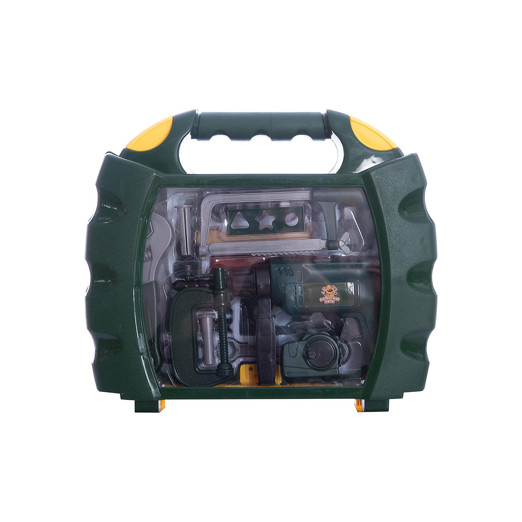 Набор инструментов в чемодане Помогаю Папе, 22 предм., ABtoysМастерская и инструменты<br>Помогаю Папе. Набор инструментов в чемодане, 22 предмета, 39х9х33,5 см<br><br>Ширина мм: 390<br>Глубина мм: 90<br>Высота мм: 335<br>Вес г: 1170<br>Возраст от месяцев: 36<br>Возраст до месяцев: 120<br>Пол: Мужской<br>Возраст: Детский<br>SKU: 5500941