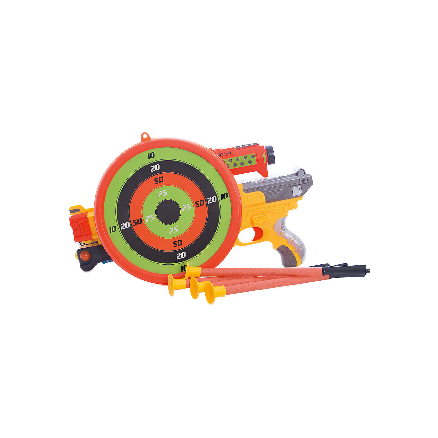 Арбалет со стрелами на присосках (3 стрелы, мишень и держатель для стрел), желтый, ABtoysСюжетно-ролевые игры<br>Арбалет со стрелами на присосках желтый, в наборе 3 стрелы, мишень и держатель для стрел, в коробке<br><br>Ширина мм: 485<br>Глубина мм: 280<br>Высота мм: 105<br>Вес г: 1125<br>Возраст от месяцев: 36<br>Возраст до месяцев: 144<br>Пол: Мужской<br>Возраст: Детский<br>SKU: 5500945