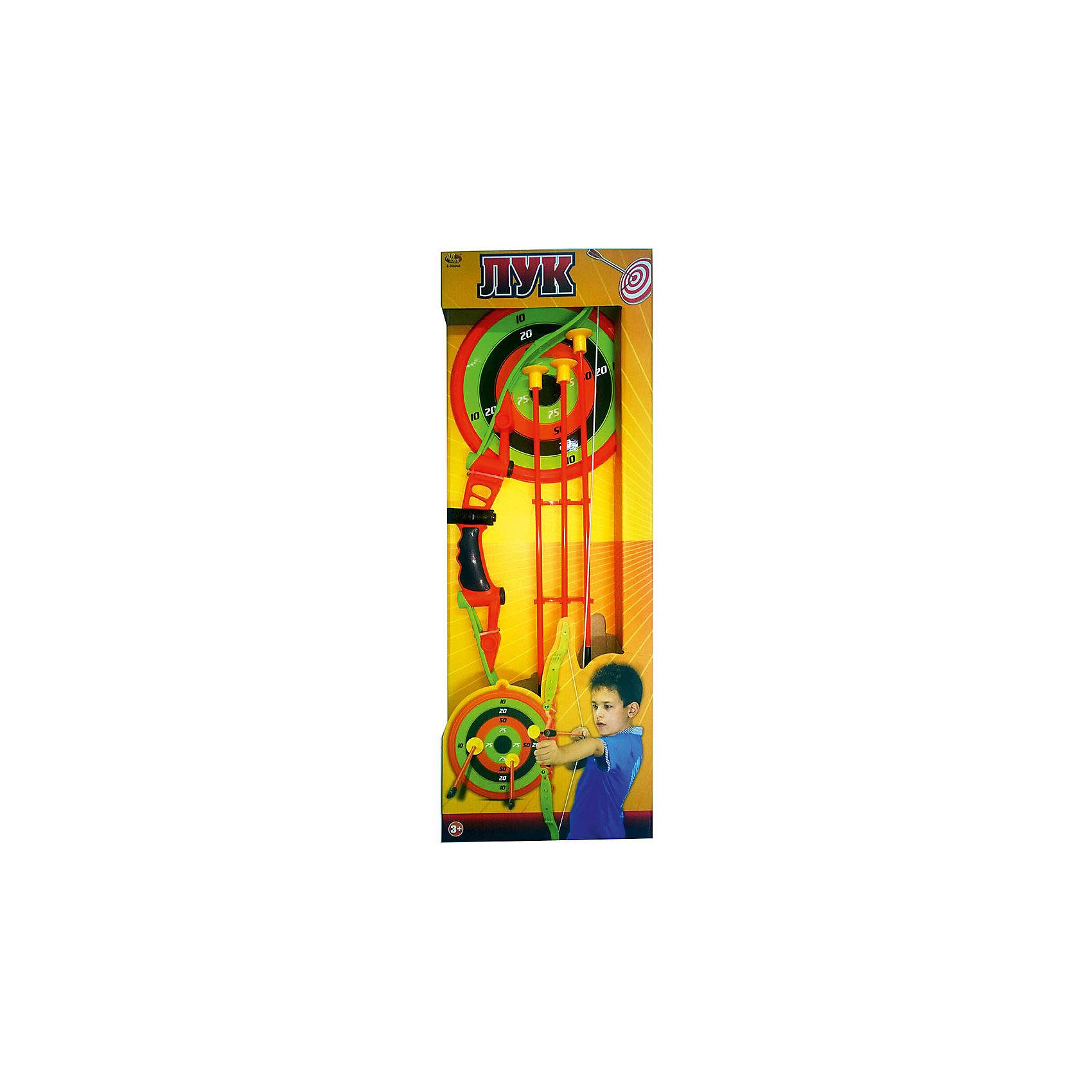 Лук со стрелами на присосках (3 стрелы, лук и мишень,), ABtoysЛук со стрелами на присосках, в наборе 3 стрелы, лук и мишень, в коробке, 24,5х65,5х4,5 см<br><br>Ширина мм: 245<br>Глубина мм: 655<br>Высота мм: 45<br>Вес г: 611<br>Возраст от месяцев: 36<br>Возраст до месяцев: 144<br>Пол: Мужской<br>Возраст: Детский<br>SKU: 5500947