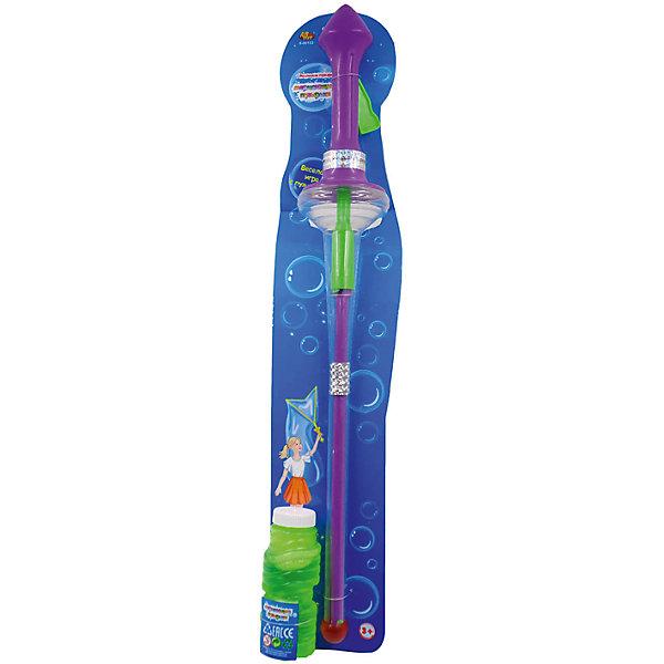 Мыльные пузыри Мерцающие пузырьки в виде меча, 60 см, ABtoysМыльные пузыри<br>Характеристики:<br><br>• тип игрушки: для отдыха;<br>• возраст: от 3 лет;<br>• комплектация: баночка с мыльным раствором, меч для выдувания пузырей;<br>• размер: 62х5х12 см;<br>• объем баночки с мыльным раствором: 180 мл.<br>• бренд: Abtoys;<br>• упаковка: картонная подложка на блистере;<br>• материал: мыло, вода, пластик.<br><br>Мыльные пузыри в виде меча из серии «Мерцающие пузырьки» на блистере, от бренда ABtoys станут отличным подарком для ребенка от трех лет. Набор обеспечит множество положительных эмоций любому ребенку. Выдувать, а потом ловить переливающиеся на солнышке радужные мыльные пузыри - одно из самых любимых занятий детей. В процессе выдувания мыльных пузырей ребенок будет учиться контролировать длительность и мощность вдоха и выдоха, что оказывает положительное влияние на развитие легких ребенка.<br><br>В комплект входят баночка с мыльным раствором, меч для создания множества пузырьков. Набор можно использовать как в помещении, так и на улице. Все составляющие комплекта выполнены из качественного яркого пластика. Мыльный раствор безопасен для детей, он не вызывает аллергических реакций и раздражения на коже.<br><br>Мыльные пузыри в виде меча из серии «Мерцающие пузырьки» на блистере, от бренда Abtoys можно купить в нашем интернет-магазине.<br>Ширина мм: 630; Глубина мм: 50; Высота мм: 120; Вес г: 370; Возраст от месяцев: 36; Возраст до месяцев: 168; Пол: Унисекс; Возраст: Детский; SKU: 5500956;
