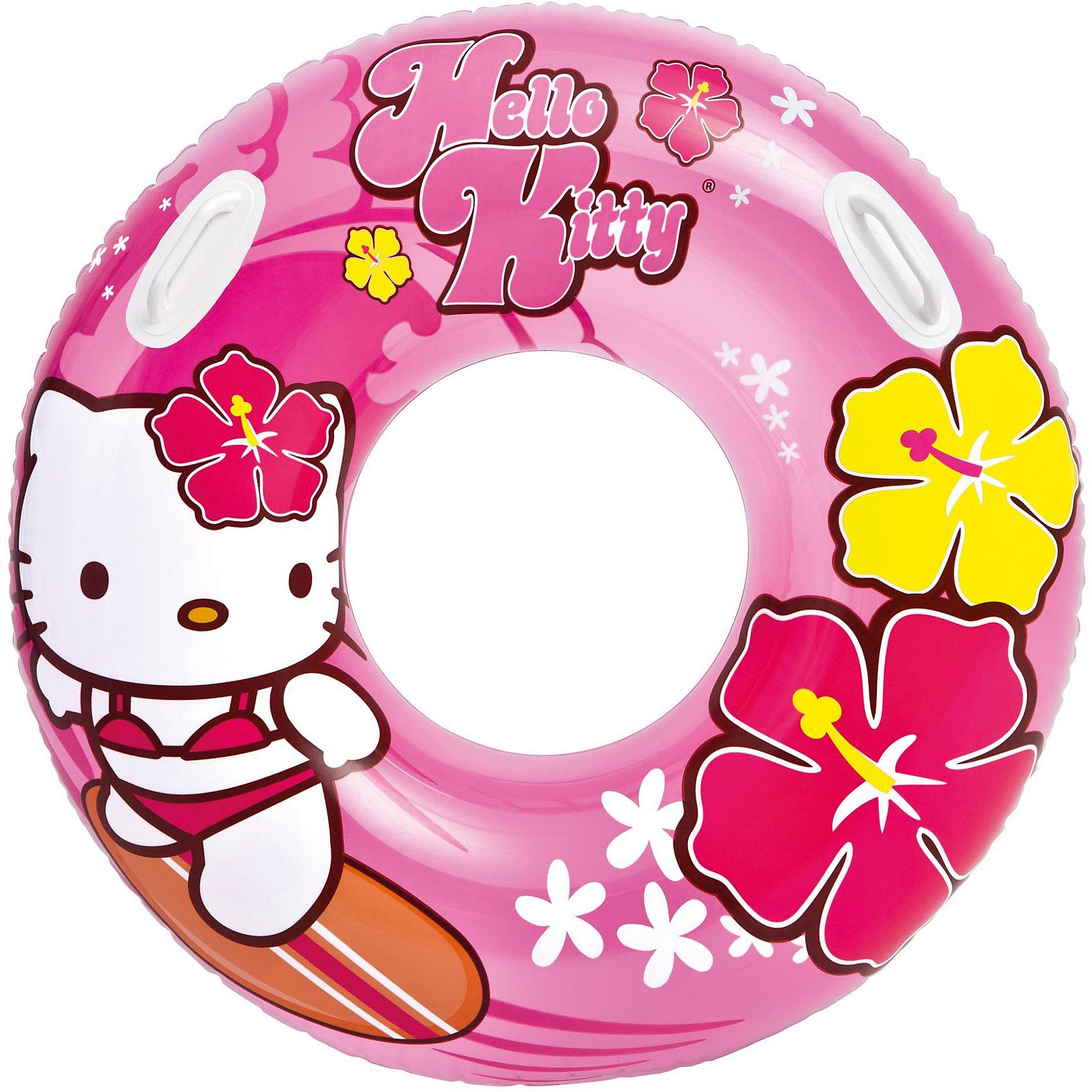 Надувной круг, 97 см, Hello Kitty , IntexКруги и нарукавники<br>Характеристики товара:<br><br>• материал: ПВХ. <br>• диаметр: 97 см. <br>• внутренний диаметр: 38 см.<br>• толщина покрытия: 0,25 мм. <br>• яркий привлекательный дизайн. <br>• удобные ручки. <br>• возраст: от 6 лет. <br><br>Яркий надувной круг обязательно понравится всем юным пловцам. <br><br>Игрушка оформлена изображениями Hello Kitty (Хелло Кити). <br><br>Круг изготовлен из высококачественных нетоксичных прочных материалов безопасных для детей, легко и быстро сдувается и надувается, занимает мало места при хранении и транспортировке.<br><br>Надувной круг, 97 см, Hello Kitty, Intex (Интекс) можно купить в нашем интернет-магазине.<br><br>Ширина мм: 241<br>Глубина мм: 203<br>Высота мм: 44<br>Вес г: 607<br>Возраст от месяцев: 36<br>Возраст до месяцев: 144<br>Пол: Унисекс<br>Возраст: Детский<br>SKU: 5501927
