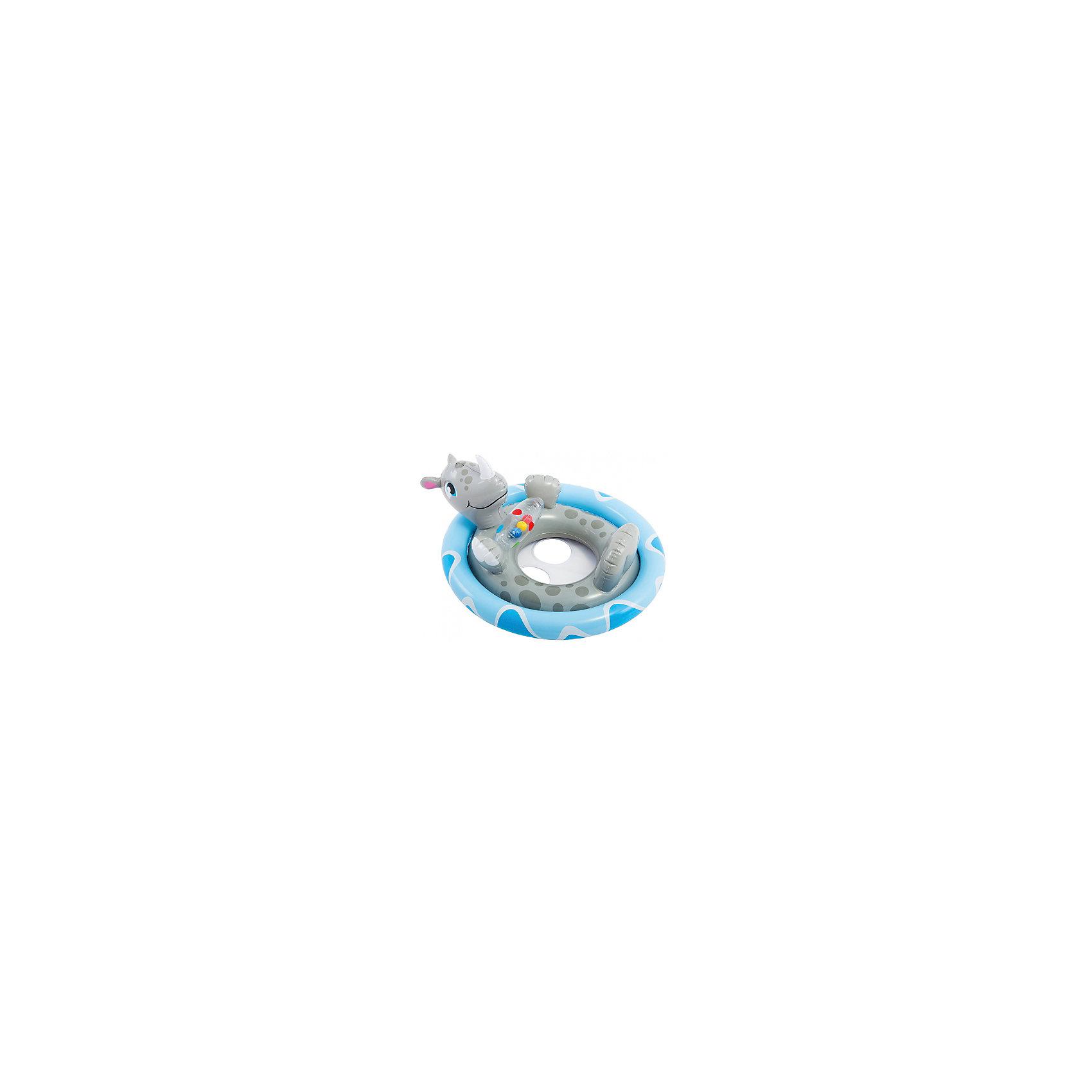 Надувной круг Носорог, с трусами, 77х58см, IntexКруги и нарукавники<br>Надувной круг Дельфин, с трусами, 77х58см, Intex (Интекс).<br><br>Характеристика:<br><br>• Материал: ПВХ. <br>• Размер: 77 х 58 см. <br>• Толщина покрытия: 0,25 мм. <br>• Удобные ручки. <br>• Отверстия для ног.<br>• Оригинальный привлекательный дизайн. <br>• Для детей 3-4 лет. <br><br>Оригинальный надувной круг в виде очаровательного дельфина - прекрасный вариант для плавания, игр и активного отдыха в воде. Специальные отверстия для ног позволяют посадить малыша в круг и надежно удержат даже самых непоседливых пловцов. Игрушка изготовлена из высококачественных нетоксичных прочных материалов безопасных для детей, легко и быстро сдувается и надувается, занимает мало места при хранении и транспортировке.<br><br>Надувной круг Дельфин, с трусами, 77х58см, Intex (Интекс) можно купить в нашем интернет-магазине.<br><br>Ширина мм: 317<br>Глубина мм: 260<br>Высота мм: 50<br>Вес г: 494<br>Возраст от месяцев: 36<br>Возраст до месяцев: 60<br>Пол: Унисекс<br>Возраст: Детский<br>SKU: 5501929