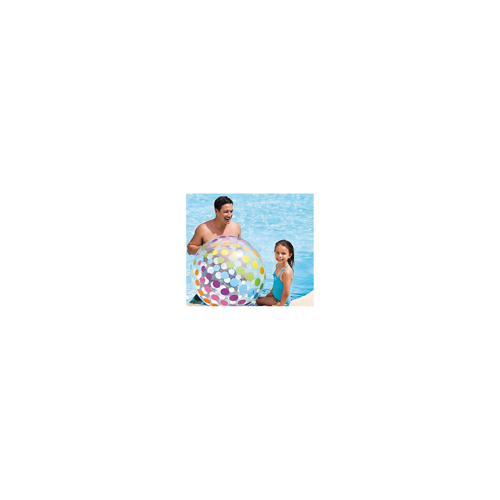 Надувной мяч Гигант, 107 см, IntexМячи детские<br>Характеристики товара:<br><br>• материал: ПВХ. <br>• диаметр: 107 см. <br>• толщина покрытия: 0,25 мм. <br>• яркий привлекательный дизайн. <br>• для детей от 3 лет.<br><br>Большой яркий надувной мяч с приведет в восторг вашего юного непоседу. Мяч подходит для игр в воде, изготовлен из высококачественных прочных материалов безопасных для детей.<br><br>Надувной мяч Гигант, 107 см, Intex (Интекс), можно купить в нашем интернет-магазине.<br><br>Ширина мм: 317<br>Глубина мм: 260<br>Высота мм: 28<br>Вес г: 488<br>Возраст от месяцев: 36<br>Возраст до месяцев: 192<br>Пол: Унисекс<br>Возраст: Детский<br>SKU: 5501944