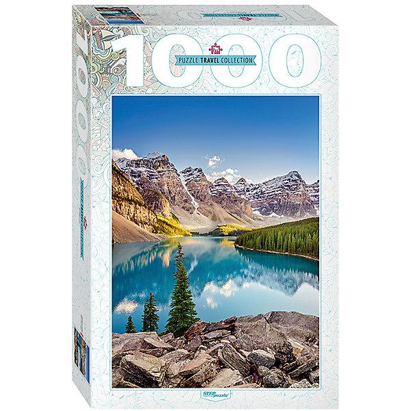 Пазл Озеро в горах, 1000 деталей, Степ ПазлПазлы классические<br>Пазл Озеро в горах, 1000 деталей, Степ Пазл<br><br>Характеристики:<br><br>• красивый пейзаж на готовой картинке<br>• размер собранного изображения: 68х48 см<br>• количество деталей: 1000<br>• размер детали: 2х1,7 см<br>• материал: картон<br>• размер упаковки: 6х33х21,5 см<br>• вес: 620 грамм<br><br>Озеро Морейн - одно из самых красивых озёр нашей планеты. Собрав пазл Озеро в горах, вы сможете полюбоваться красивым пейзажем ледникового озера Морейн. Красочное изображение делает картинку еще привлекательнее. В комплект входит 1000 деталей из плотного картона. Собирание пазлов развивает мелкую моторику, логическое мышление, внимательность и усидчивость.<br><br>Пазл Озеро в горах, 1000 деталей, Степ Пазл вы можете купить в нашем интернет-магазине.<br>Ширина мм: 215; Глубина мм: 330; Высота мм: 60; Вес г: 620; Возраст от месяцев: 48; Возраст до месяцев: 2147483647; Пол: Унисекс; Возраст: Детский; SKU: 5502548;