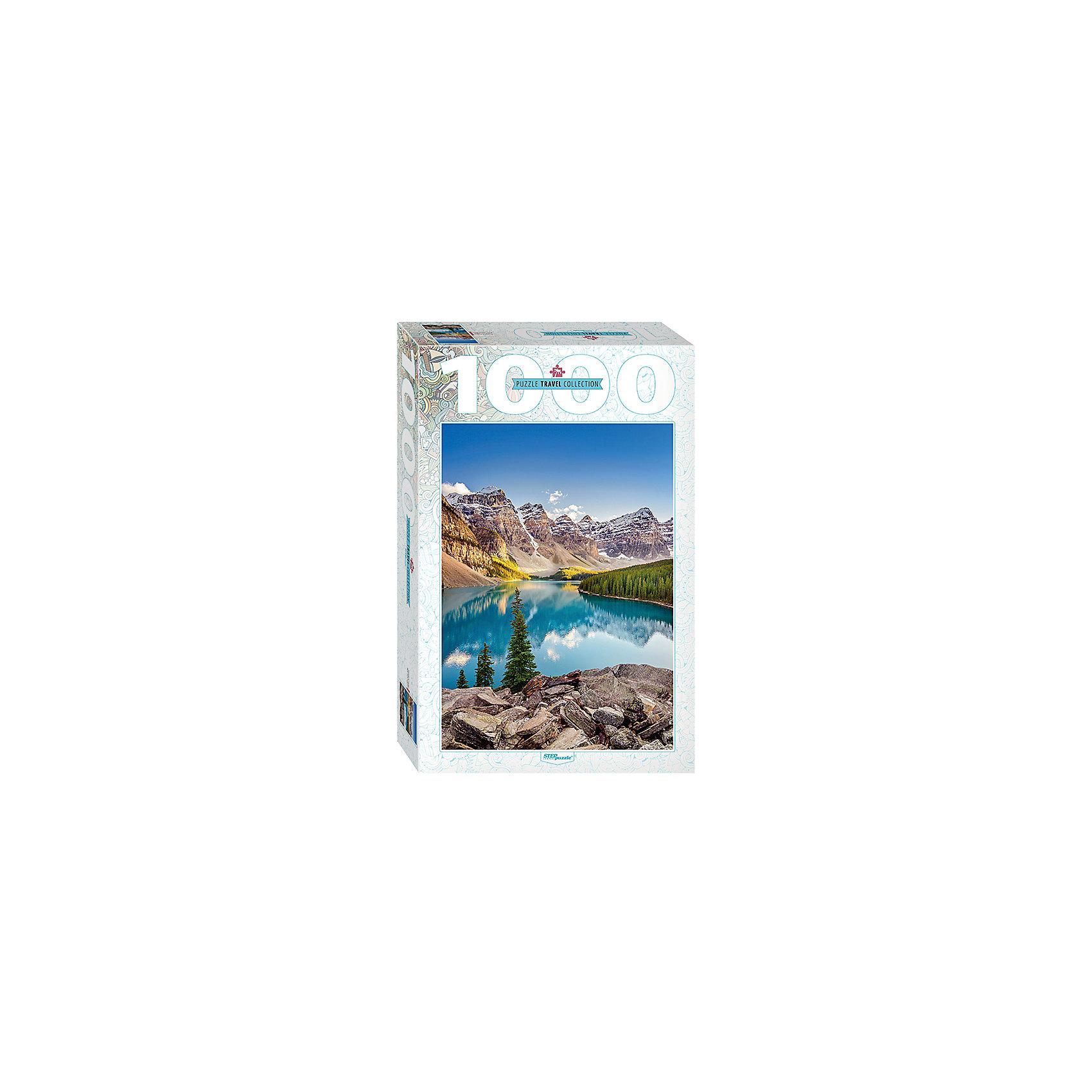 Пазл Озеро в горах, 1000 деталей, Степ ПазлПазлы для детей постарше<br>Пазл Озеро в горах, 1000 деталей, Степ Пазл<br><br>Характеристики:<br><br>• красивый пейзаж на готовой картинке<br>• размер собранного изображения: 68х48 см<br>• количество деталей: 1000<br>• размер детали: 2х1,7 см<br>• материал: картон<br>• размер упаковки: 6х33х21,5 см<br>• вес: 620 грамм<br><br>Озеро Морейн - одно из самых красивых озёр нашей планеты. Собрав пазл Озеро в горах, вы сможете полюбоваться красивым пейзажем ледникового озера Морейн. Красочное изображение делает картинку еще привлекательнее. В комплект входит 1000 деталей из плотного картона. Собирание пазлов развивает мелкую моторику, логическое мышление, внимательность и усидчивость.<br><br>Пазл Озеро в горах, 1000 деталей, Степ Пазл вы можете купить в нашем интернет-магазине.<br><br>Ширина мм: 215<br>Глубина мм: 330<br>Высота мм: 60<br>Вес г: 620<br>Возраст от месяцев: 48<br>Возраст до месяцев: 2147483647<br>Пол: Унисекс<br>Возраст: Детский<br>SKU: 5502548