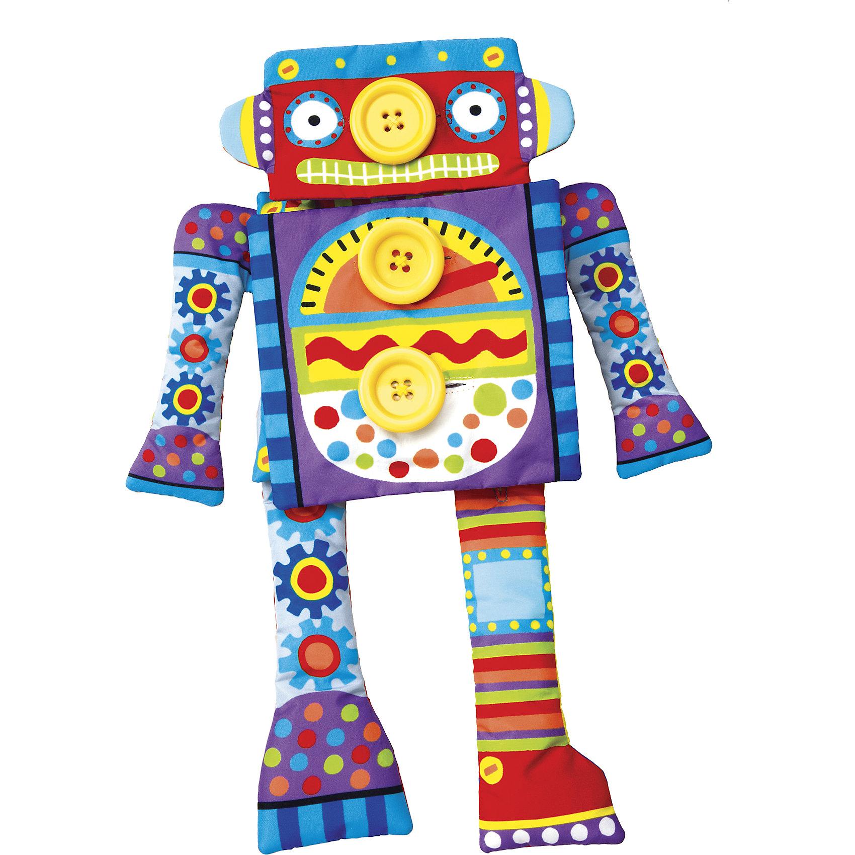Развивающая игрушка Робот Пуговка, ALEXРазвивающие игрушки<br>Развивающая игрушка Робот Пуговка, ALEX (Алекс)<br><br>Характеристики:<br><br>• развивает мелкую моторику и фантазию<br>• размер робота: 38х16 см<br>• в комплекте: робот, сменные детали<br>• количество пуговиц: 8<br>• материал: пластик, текстиль<br>• размер упаковки: 35х21х6 см<br>• вес: 400 грамм<br><br>Веселый Робот Пуговка надолго привлечет внимание ребенка. На корпусе робота расположены 8 крупных пуговиц. К ним малыш сможет пристегнуть различные части, которые входят в комплект. Меняйте роботу руки, ноги и голову - увлекательная игра гарантирована! Игра с роботом поможет развить мелкую моторику и фантазию ребенка.<br><br>Развивающую игрушку Робот Пуговка, ALEX (Алекс) вы можете купить в нашем интернет-магазине.<br><br>Ширина мм: 380<br>Глубина мм: 335<br>Высота мм: 230<br>Вес г: 1652<br>Возраст от месяцев: 24<br>Возраст до месяцев: 2147483647<br>Пол: Унисекс<br>Возраст: Детский<br>SKU: 5503274