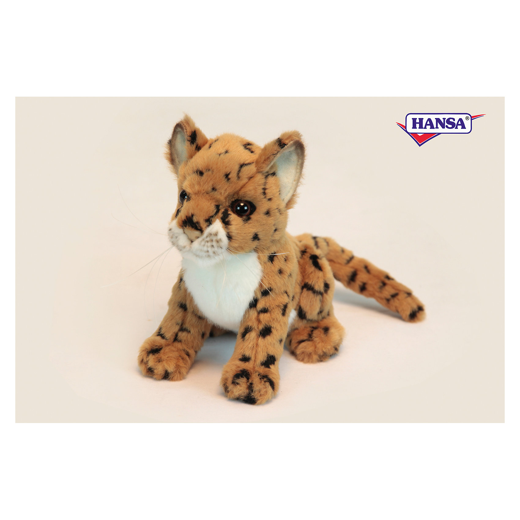 Леопард, 16 см, HansaЗвери и птицы<br>Леопард, 16 см, Hansa (Ханса)<br><br>Характеристики:<br><br>• реалистичная мягкая игрушка<br>• приятная на ощупь<br>• прочный каркас<br>• размер игрушки: 16 см<br>• материал: металл, плюш, наполнитель, пластик<br>• размер упаковки: 14х18 см<br>• вес: 180 грамм<br><br>Маленький леопард от Hansa - очень красивый и забавный зверек. К тому же, он очень милый и приятный на ощупь. Его каркас выполнен из прочного металла, обеспечивающего игрушке долговечность. Реалистичные детали леопарда и блестящие глазки никого не оставят равнодушным!<br><br>Леопард, 16 см, Hansa (Ханса) вы можете купить в нашем интернет-магазине.<br><br>Ширина мм: 180<br>Глубина мм: 140<br>Высота мм: 160<br>Вес г: 180<br>Возраст от месяцев: 36<br>Возраст до месяцев: 2147483647<br>Пол: Унисекс<br>Возраст: Детский<br>SKU: 5503275