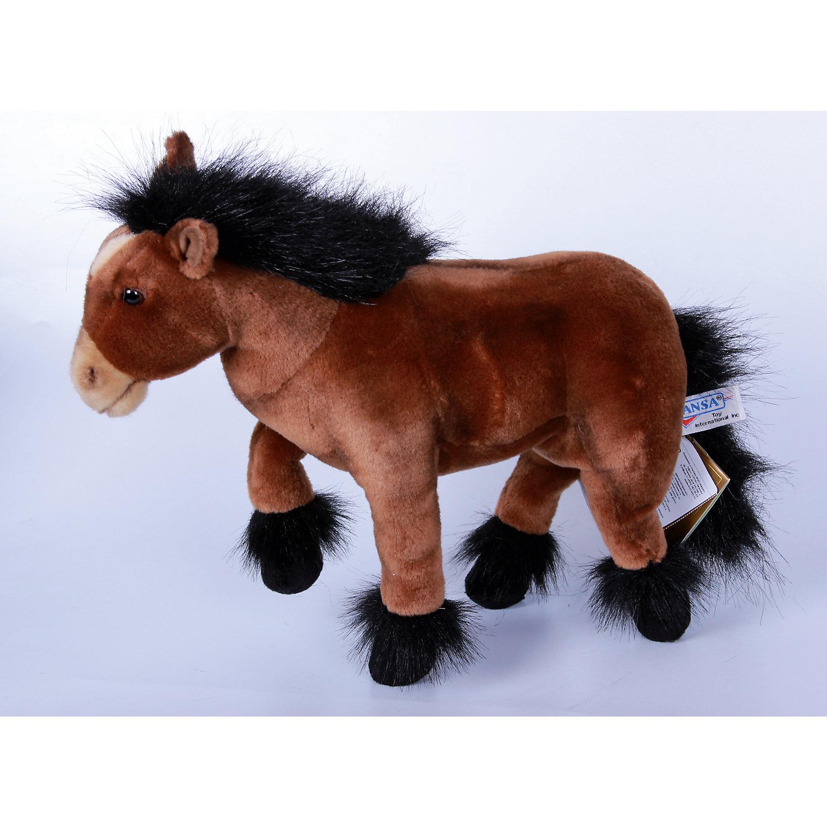 Пони шоколадно-коричневый, 36 см, HansaМягкие игрушки животные<br>Пони шоколадно-коричневый, 36 см, Hansa (Ханса)<br><br>Характеристики:<br><br>• реалистичная мягкая игрушка<br>• приятная на ощупь<br>• прочный каркас<br>• ноги сгибаются<br>• размер игрушки: 36 см<br>• материал: пластик, синтепон, текстиль, искусственный мех<br>• размер упаковки: 12х36 см<br>• вес: 720 грамм<br><br>Коричневый пони - отличный подарок для ценителей качественных и реалистичных игрушек. Каркас выполнен из прочного металла, что обеспечивает лошадке большую прочность. Ноги пони сгибаются для правдоподобности игры. Лицевая сторона игрушки очень мягкая и приятная на ощупь. Детали лошадки выглядят реалистично, чтобы ребенок мог придумать самые интересные игры.<br><br>Пони шоколадно-коричневый, 36 см, Hansa (Ханса) вы можете купить в нашем интернет-магазине.<br><br>Ширина мм: 360<br>Глубина мм: 120<br>Высота мм: 300<br>Вес г: 720<br>Возраст от месяцев: 36<br>Возраст до месяцев: 2147483647<br>Пол: Унисекс<br>Возраст: Детский<br>SKU: 5503276