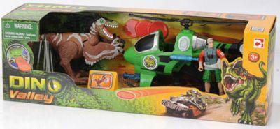 Набор: Динозавр Ютараптор и охотник на вертолете, Chap Mei