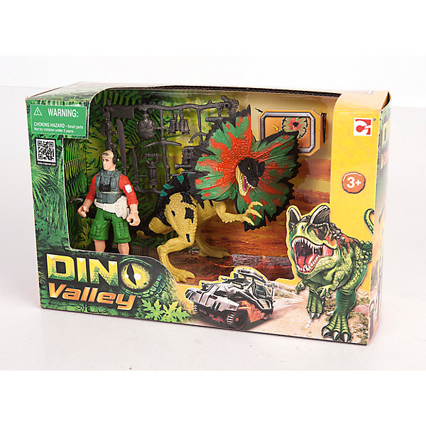 Набор: Дилофозавр и охотник со снаряжением, Chap MeiИгровые наборы с фигурками<br>Набор: Дилофозавр и охотник со снаряжением, Chap Mei (Чап Мей)<br><br>Характеристики:<br><br>• подвижные конечности и голова<br>• реалистичные детали<br>• высота динозавра: 16 см<br>• материал: пластик<br>• размер упаковки: 28х18х10,5 см<br>• вес: 310 грамм<br><br>Дилофозавр - хищный динозавр начала юрского периода. Поймать его не так просто, но смелый охотник обязательно справится с этой задачей. Для этого он взял с собой всё необходимое снаряжение. Самое время устроить настоящую охоту! Набор познакомит ребенка с представителями древнейшего мира и позволит разыграть интересный сюжет из жизни охотника на динозавров. Фигурка динозавра обладает механическими функциями. <br><br>Набор: Дилофозавр и охотник со снаряжением, Chap Mei (Чап Мей) вы можете купить в нашем интернет-магазине.<br><br>Ширина мм: 273<br>Глубина мм: 102<br>Высота мм: 178<br>Вес г: 690<br>Возраст от месяцев: 36<br>Возраст до месяцев: 2147483647<br>Пол: Унисекс<br>Возраст: Детский<br>SKU: 5503289