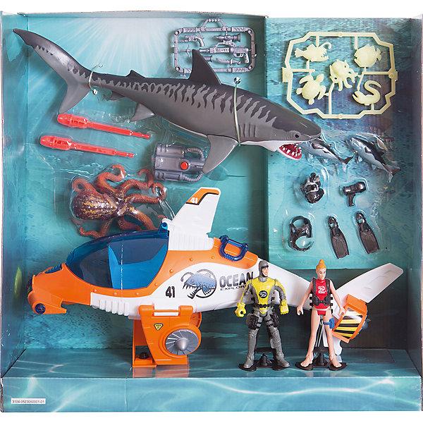 Набор: Субмарина акванавтов, Chap MeiСолдатики и рыцари<br>Набор: Субмарина акванавтов, Chap Mei (Чап Мей)<br><br>Характеристики:<br><br>• акула двигает челюстями<br>• световые эффекты<br>• в комплекте: фигурка акулы, фигурка осьминога, фигурки акванавтов, субмарина, аксессуары<br>• батарейки: AG13 - 3 шт. (входят в комплект)<br>• материал: пластик<br>• размер упаковки: 41,5х13,5х38 см<br><br>Набор Субмарина акванавтов позволит ребенку разыграть интересную историю из жизни исследователей морских глубин. В набор входят две фигурки подводных жителей, фигурки акванавтов и субмарина. Осьминог и акула выглядят действительно устрашающе, но отважным акванавтам ничего не угрожает. В надежной субмарине они точно будут в безопасности! Акула обладает механическими функциями. А субмарина светится и издает звуки. Этот набор не позволит вашему малышу заскучать!<br><br>Набор: Субмарина акванавтов, Chap Mei (Чап Мей) можно купить в нашем интернет-магазине.<br><br>Ширина мм: 412<br>Глубина мм: 127<br>Высота мм: 381<br>Вес г: 2200<br>Возраст от месяцев: 36<br>Возраст до месяцев: 2147483647<br>Пол: Унисекс<br>Возраст: Детский<br>SKU: 5503295