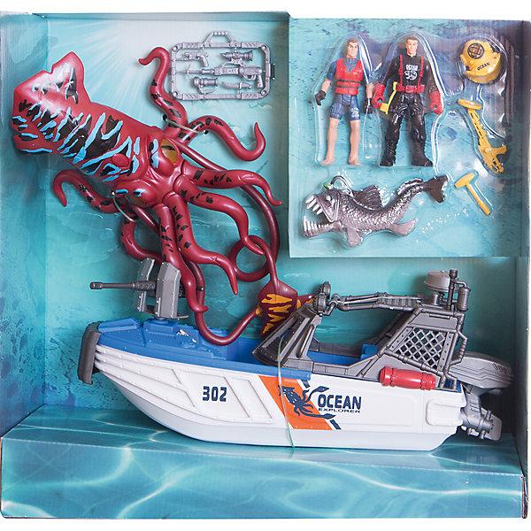 Набор: Опасное приключение акванавтов, Chap MeiСолдатики и рыцари<br>Набор: Опасное приключение акванавтов, Chap Mei (Чап Мей)<br><br>Характеристики:<br><br>• кальмар со световыми эффектами<br>• катер может плавать по воде<br>• в комплекте: катер, 2 фигурки, кальмар, рыба-монстр, снаряжение<br>•материал: пластик<br>• размер упаковки: 42х37х13 см<br>• вес: 1116 грамм<br>• батарейки: AG13 - 3 шт. (входят в комплект)<br><br>Акванавты не боятся трудностей и смело отправляются исследовать морские глубины. Даже огромный кальмар и рыба-монстр не способны напугать путешественников. Набор Chap Mei позволит ребенку придумать интересную историю из жизни акванавтов и воплотить ее в игре. Огромный кальмар интересно светится. Катер можно отправить в настоящее плавание по воде для большей реалистичности.<br><br>Набор: Опасное приключение акванавтов, Chap Mei (Чап Мей) можно купить в нашем интернет-магазине.<br><br>Ширина мм: 412<br>Глубина мм: 127<br>Высота мм: 381<br>Вес г: 2306<br>Возраст от месяцев: 36<br>Возраст до месяцев: 2147483647<br>Пол: Унисекс<br>Возраст: Детский<br>SKU: 5503296