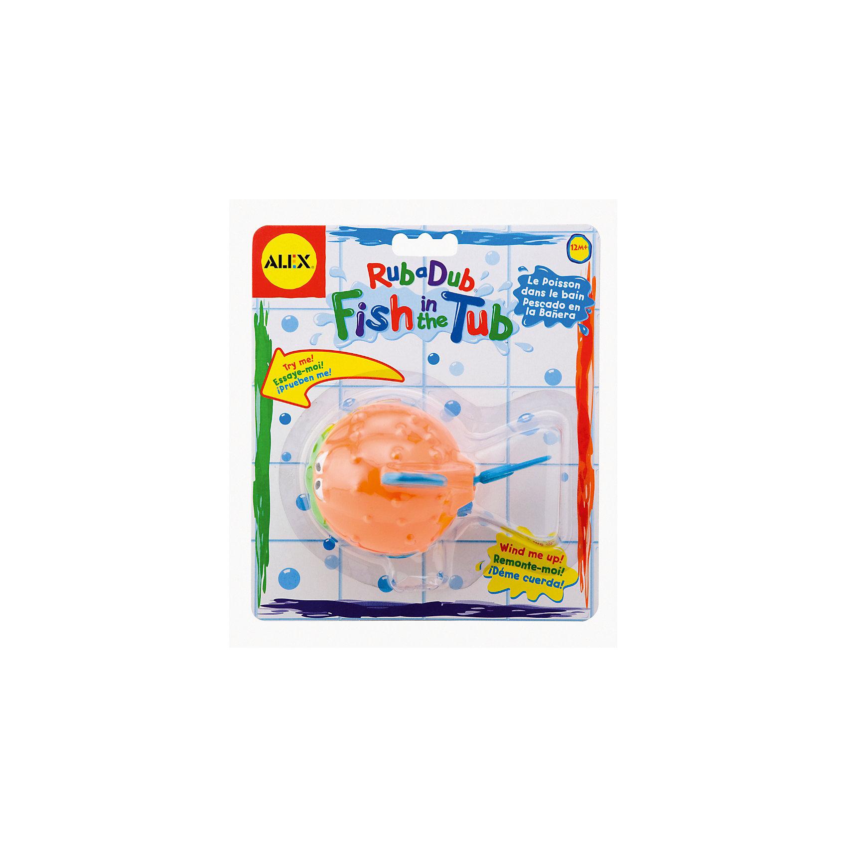 Игрушка для ванны Рыба-ёж, ALEXИгровые наборы<br>Игрушка для ванны Рыба-ёж, ALEX (Алекс)<br><br>Характеристики:<br><br>• двигается в воде<br>• заводной механизм<br>• материал: пластик<br>• длина игрушки - 12,5 см<br>• размер упаковки: 20х17,5х5 см<br>• вес: 105 грамм<br><br>Маленькая рыба-ёж ALEX подарит ребенку незабываемые впечатления во время купания! При повороте рычага рыбка начинает забавно двигаться и плавать. С этой игрушкой кроха полюбит купаться, ведь маленькая рыба-ёж очень веселая и интересная!<br><br>Игрушку для ванны Рыба-ёж, ALEX (Алекс) можно купить в нашем интернет-магазине.<br><br>Ширина мм: 177<br>Глубина мм: 76<br>Высота мм: 203<br>Вес г: 270<br>Возраст от месяцев: 12<br>Возраст до месяцев: 2147483647<br>Пол: Унисекс<br>Возраст: Детский<br>SKU: 5503312