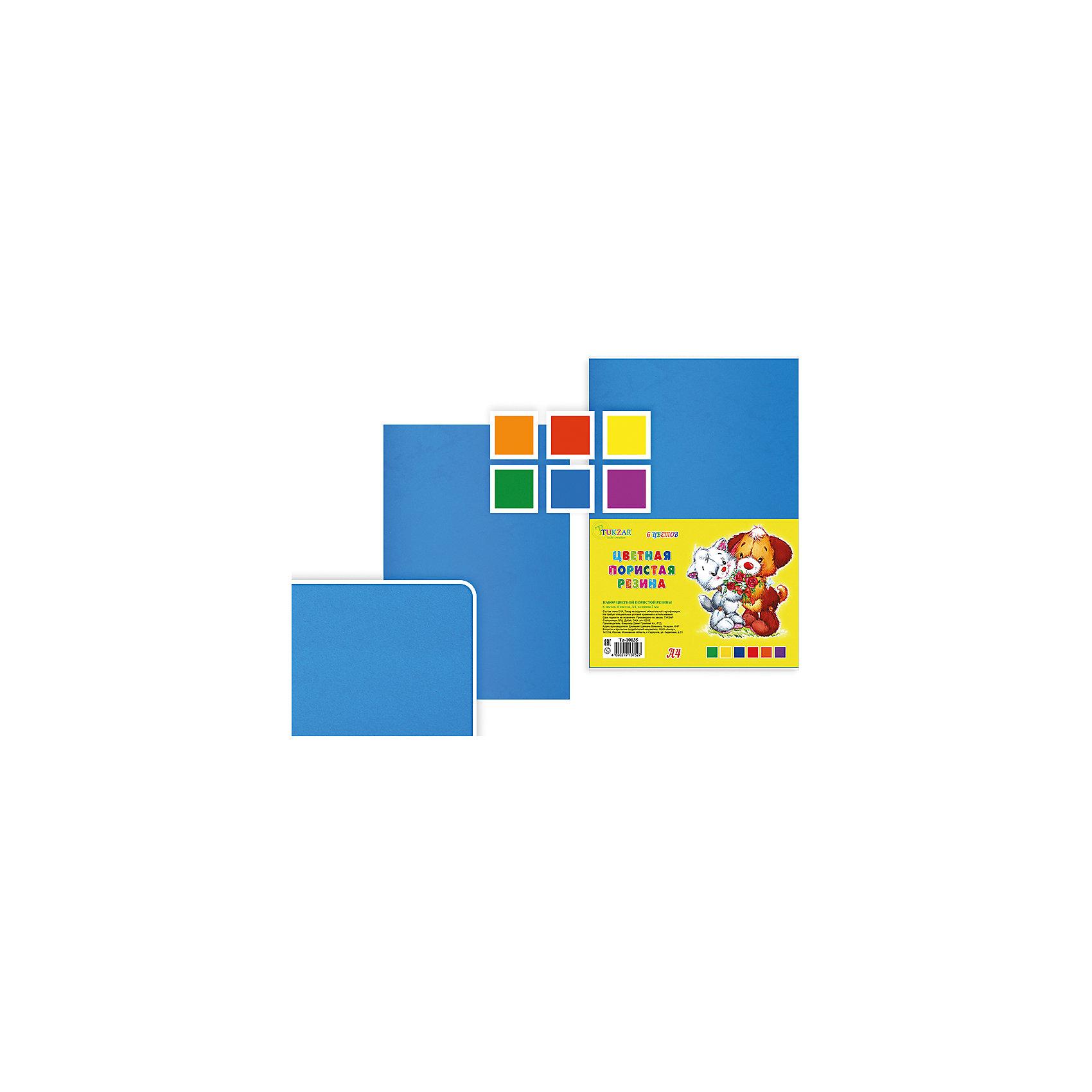 Набор цветной пористой резины, толщина - 2 мм, 6 листов, 6 цветов, А 4Последняя цена<br>Набор цветной пористой резины, толщина - 2 мм, 6 листов, 6 цветов, А 4.<br><br>Характеристики:<br><br>• Возраст: от 6 лет<br>• Количество: 6 разноцветных листов формата А4<br>• Толщина листа: 2 мм.<br>• Цвета: оранжевый, красный, желтый, зеленый, голубой, сиреневый<br><br>Цветная пористая резина (пена EVA) ярких насыщенных цветов в листах формата А4 предназначена для создания творческих поделок и объемных аппликаций дома, в школе или в детском саду. Пористая резина - приятная на ощупь, гибкая. Работать с ней просто и удобно, она режется ножницами, легко принимает нужную форму.<br><br>Набор цветной пористой резины, толщина - 2 мм, 6 листов, 6 цветов, А 4 можно купить в нашем интернет-магазине.<br><br>Ширина мм: 330<br>Глубина мм: 8<br>Высота мм: 210<br>Вес г: 100<br>Возраст от месяцев: 72<br>Возраст до месяцев: 2147483647<br>Пол: Унисекс<br>Возраст: Детский<br>SKU: 5504493