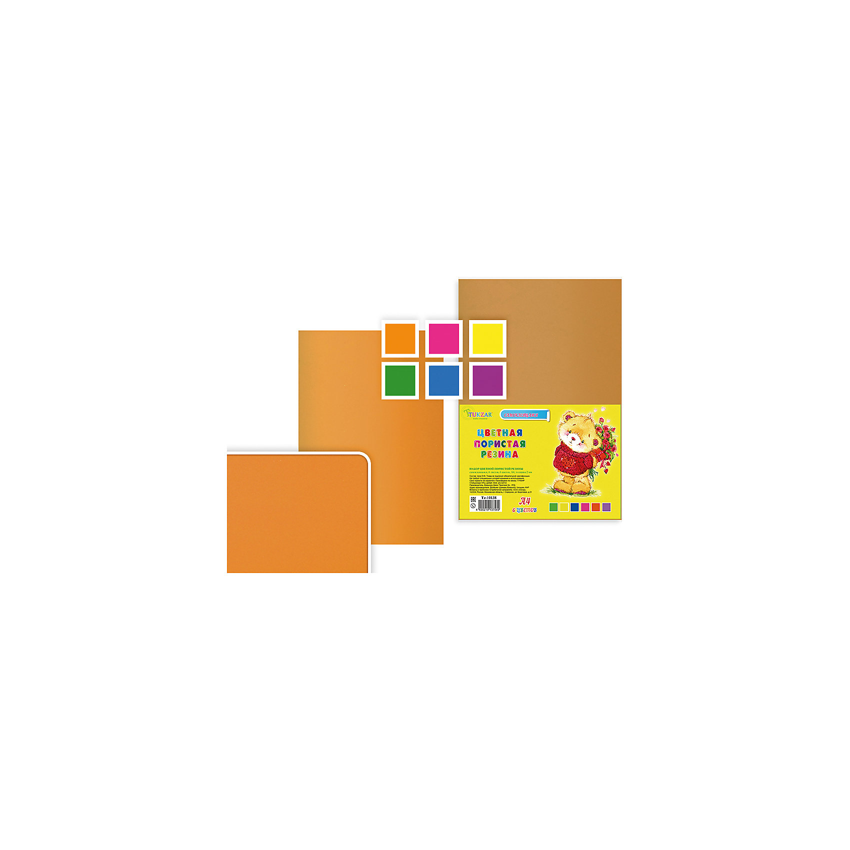 Набор цветной пористой резины самоклеящейся, 6 листов, 6 цветов, А 4.Рукоделие<br>Набор цветной пористой резины самоклеящейся, 6 листов, 6 цветов, А 4.<br><br>Ширина мм: 330<br>Глубина мм: 8<br>Высота мм: 210<br>Вес г: 113<br>Возраст от месяцев: 72<br>Возраст до месяцев: 2147483647<br>Пол: Унисекс<br>Возраст: Детский<br>SKU: 5504496