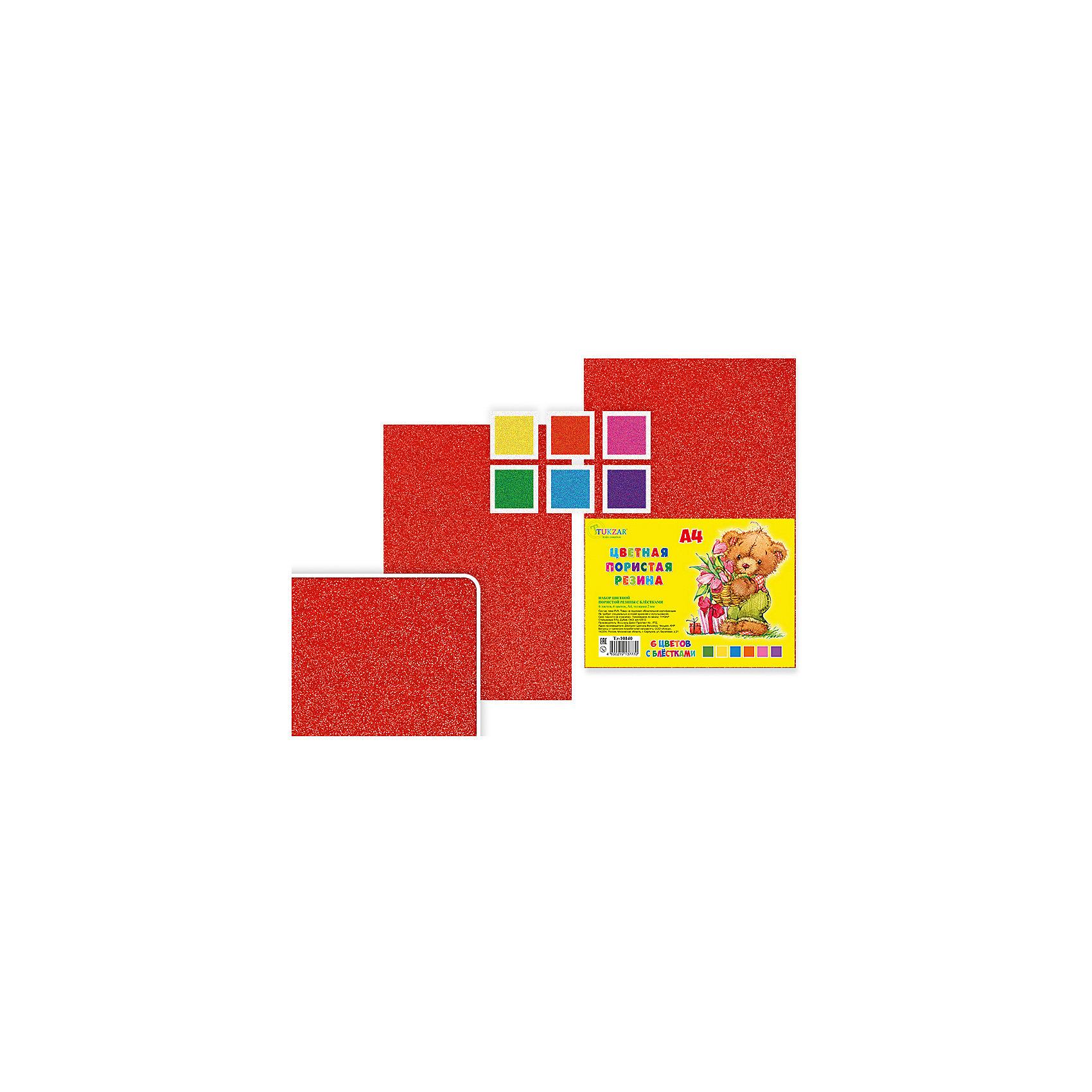 Набор цветной пористой резины с блестками,6 листов, 6 цв.Последняя цена<br>Набор цветной самоклеящейся пористой резины, 6 листов, 6 цветов, А4.<br><br>Характеристики:<br><br>• Возраст: от 6 лет<br>• Количество: 6 разноцветных листов формата А4 с клейким слоем с одной стороны<br>• Толщина листа: 2 мм.<br>• Цвета: оранжевый, розовый, желтый, зеленый, голубой, сиреневый<br><br>Цветная пористая резина (пена EVA) ярких насыщенных цветов в листах формата А4 предназначена для создания творческих поделок и объемных аппликаций дома, в школе или в детском саду. Листы покрыты прочным клейким слоем с одной стороны. Пористая резина - приятная на ощупь, гибкая. Работать с ней просто и удобно, она режется ножницами, легко принимает нужную форму и приклеивается на ровную поверхность.<br><br>Набор цветной самоклеящейся пористой резины, 6 листов, 6 цветов, А4 можно купить в нашем интернет-магазине.<br><br>Ширина мм: 330<br>Глубина мм: 8<br>Высота мм: 210<br>Вес г: 143<br>Возраст от месяцев: 72<br>Возраст до месяцев: 2147483647<br>Пол: Унисекс<br>Возраст: Детский<br>SKU: 5504498