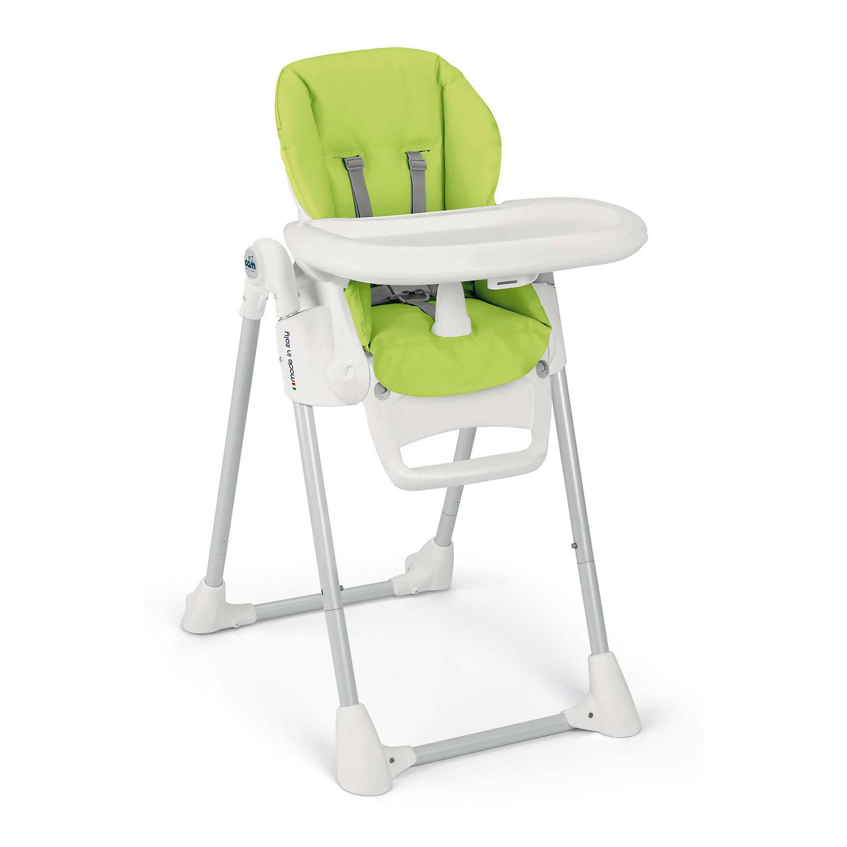 Стульчик для кормления Pappananna, CAM, зеленыйот рождения<br>Характеристики:<br><br>• изменяется высота сиденья, 8 положений;<br>• угол наклона спинки регулируется, 4 положения, включая положение «лежа»;<br>• регулируемая подножка;<br>• система 5-ти точечных ремней безопасности надежно удерживает ребенка;<br>• пластиковый ограничитель между ножек не позволяет ребенку «съехать» или соскользнуть вниз;<br>• стульчик оснащен съемным столиком для кормления;<br>• имеется также дополнительный поднос с углублениями для посуды;<br>• поднос можно снять и оставить только столик с ровной поверхностью;<br>• на нижнем основании стульчика находятся пластиковые накладки, которые обеспечивают устойчивость конструкции;<br>• задние ножки оснащены колесиками;<br>• стульчик компактно складывается, устойчиво стоит в вертикальном положении;<br>• материал: алюминий, пластик, полиэстер, эко-кожа.<br><br>Размеры:<br><br>• размер стульчика для кормления: 55х76х106 см;<br>• размер стульчика в сложенном виде: 55х31х89 см;<br>• вес стульчика: 8,9 кг;<br>• размер упаковки: 62,7х30,7х98 см;<br>• вес в упаковке: 12,2 кг.<br><br>Функциональный стульчик-трансформер Pappananna используется с первых дней жизни малыша благодаря раскладывающейся почти до горизонтального положения спинке. В таком положении ребенок может находиться рядом с взрослыми в часы приема ими пищи. Стульчик регулируется по высоте, которая может быть изменена в зависимости от роста ребенка. Стульчик без столика удобно приставить к общему столу, когда ребенок подрастет. <br><br>Стульчик для кормления Pappananna, CAM, зеленый можно купить в нашем интернет-магазине.<br><br>Ширина мм: 627<br>Глубина мм: 307<br>Высота мм: 980<br>Вес г: 12200<br>Возраст от месяцев: 0<br>Возраст до месяцев: 36<br>Пол: Унисекс<br>Возраст: Детский<br>SKU: 5504507