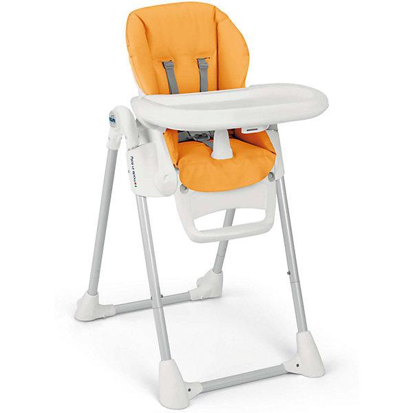 Стульчик для кормления Pappananna, CAM, оранжевыйСтульчики для кормления<br>Характеристики:<br><br>• изменяется высота сиденья, 8 положений;<br>• угол наклона спинки регулируется, 4 положения, включая положение «лежа»;<br>• регулируемая подножка;<br>• система 5-ти точечных ремней безопасности надежно удерживает ребенка;<br>• пластиковый ограничитель между ножек не позволяет ребенку «съехать» или соскользнуть вниз;<br>• стульчик оснащен съемным столиком для кормления;<br>• имеется также дополнительный поднос с углублениями для посуды;<br>• поднос можно снять и оставить только столик с ровной поверхностью;<br>• на нижнем основании стульчика находятся пластиковые накладки, которые обеспечивают устойчивость конструкции;<br>• задние ножки оснащены колесиками;<br>• стульчик компактно складывается, устойчиво стоит в вертикальном положении;<br>• материал: алюминий, пластик, полиэстер, эко-кожа.<br><br>Размеры:<br><br>• размер стульчика для кормления: 55х76х106 см;<br>• размер стульчика в сложенном виде: 55х31х89 см;<br>• вес стульчика: 8,9 кг;<br>• размер упаковки: 62,7х30,7х98 см;<br>• вес в упаковке: 12,2 кг.<br><br>Функциональный стульчик-трансформер Pappananna используется с первых дней жизни малыша благодаря раскладывающейся почти до горизонтального положения спинке. В таком положении ребенок может находиться рядом с взрослыми в часы приема ими пищи. Стульчик регулируется по высоте, которая может быть изменена в зависимости от роста ребенка. Стульчик без столика удобно приставить к общему столу, когда ребенок подрастет. <br><br>Стульчик для кормления Pappananna, CAM, оранжевый можно купить в нашем интернет-магазине.<br>Ширина мм: 627; Глубина мм: 307; Высота мм: 980; Вес г: 12200; Возраст от месяцев: 0; Возраст до месяцев: 36; Пол: Унисекс; Возраст: Детский; SKU: 5504508;