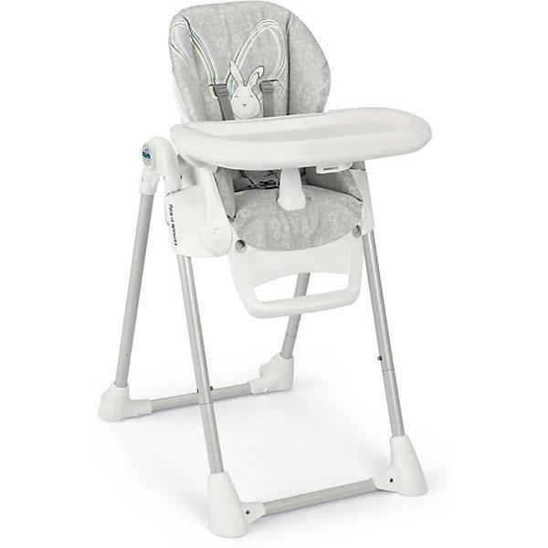 Стульчик для кормления Pappananna Зайчик, CAM, серыйСтульчики для кормления<br>Характеристики:<br><br>• изменяется высота сиденья, 8 положений;<br>• угол наклона спинки регулируется, 4 положения, включая положение «лежа»;<br>• регулируемая подножка;<br>• система 5-ти точечных ремней безопасности надежно удерживает ребенка;<br>• пластиковый ограничитель между ножек не позволяет ребенку «съехать» или соскользнуть вниз;<br>• стульчик оснащен съемным столиком для кормления;<br>• имеется также дополнительный поднос с углублениями для посуды;<br>• поднос можно снять и оставить только столик с ровной поверхностью;<br>• на нижнем основании стульчика находятся пластиковые накладки, которые обеспечивают устойчивость конструкции;<br>• задние ножки оснащены колесиками;<br>• стульчик компактно складывается, устойчиво стоит в вертикальном положении;<br>• материал: алюминий, пластик, полиэстер, эко-кожа.<br><br>Размеры:<br><br>• размер стульчика для кормления: 55х76х106 см;<br>• размер стульчика в сложенном виде: 55х31х89 см;<br>• вес стульчика: 8,9 кг;<br>• размер упаковки: 62,7х30,7х98 см;<br>• вес в упаковке: 12,2 кг.<br><br>Функциональный стульчик-трансформер Pappananna используется с первых дней жизни малыша благодаря раскладывающейся почти до горизонтального положения спинке. В таком положении ребенок может находиться рядом с взрослыми в часы приема ими пищи. Стульчик регулируется по высоте, которая может быть изменена в зависимости от роста ребенка. Стульчик без столика удобно приставить к общему столу, когда ребенок подрастет. <br><br>Стульчик для кормления Pappananna Зайчик, CAM, серый можно купить в нашем интернет-магазине.<br>Ширина мм: 627; Глубина мм: 307; Высота мм: 980; Вес г: 12200; Возраст от месяцев: 0; Возраст до месяцев: 36; Пол: Унисекс; Возраст: Детский; SKU: 5504509;