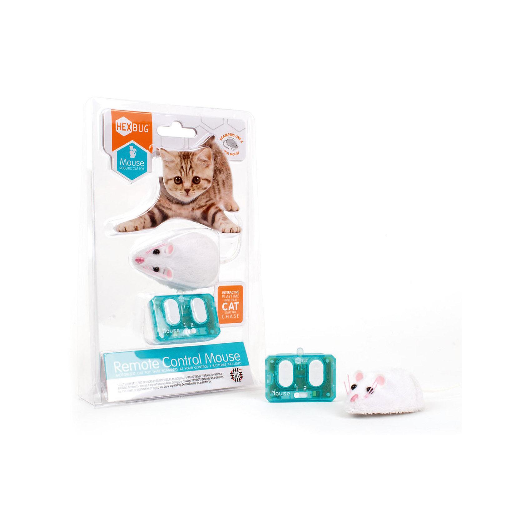 Микро-робот Mouse Cat Toy на радиоуправлении, HexbugПрочие интерактивные игрушки<br>Микро-робот Mouse Cat Toy на радиоуправлении, Hexbug (Хексбаг)<br><br>Характеристики:<br><br>• устойчив к механическим повреждениям<br>• управление пультом<br>• 2 канала<br>• материал: пластик, металл, искусственная шерсть<br>• батарейки: LR44 - 2 Шт.<br>• размер упаковки: 22х13х3 см<br>• вес: 80 грамм<br><br>Mouse Cat Toy - микро-робот для игр с домашними питомцами. Робот выполнен в виде маленькой мышки с хвостиком, ушками и глазками, похожими на настоящие. Мышка очень быстро и реалистично двигается, чтобы ваш питомец не заскучал. Вы можете управлять роботом при помощи пульта управления. Мышь устойчива к таким механическим повреждениям как царапины и удары лапой.<br><br>Микро-робота Mouse Cat Toy на радиоуправлении, Hexbug (Хексбаг) вы можете купить в нашем интернет-магазине.<br><br>Ширина мм: 9999<br>Глубина мм: 9999<br>Высота мм: 9999<br>Вес г: 9999<br>Возраст от месяцев: 36<br>Возраст до месяцев: 2147483647<br>Пол: Унисекс<br>Возраст: Детский<br>SKU: 5506930