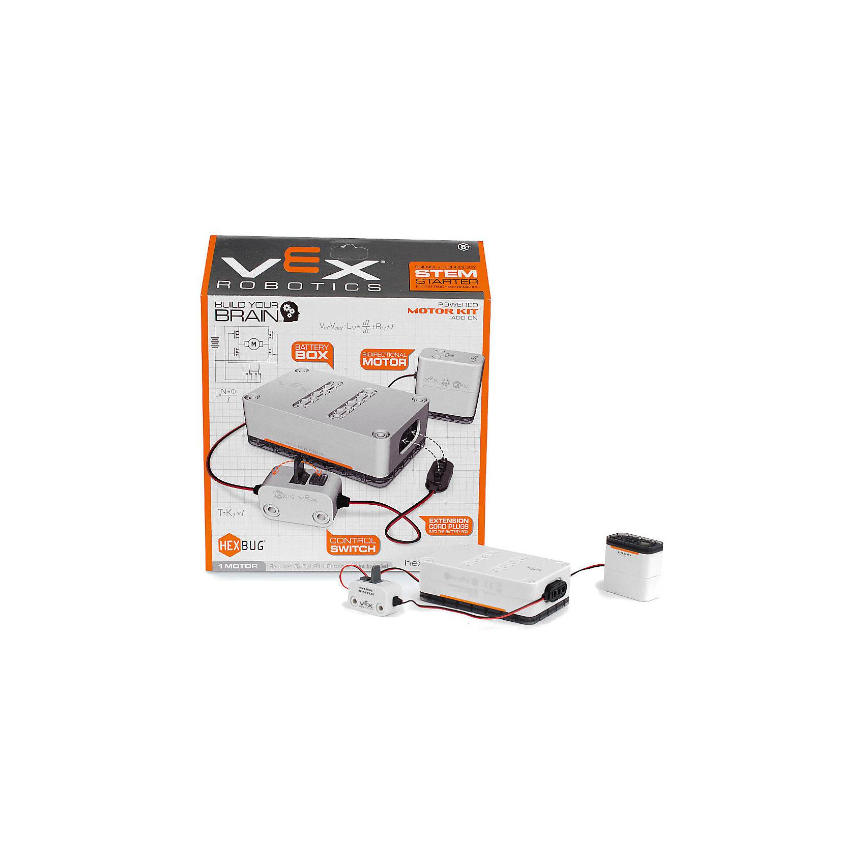 Игровой набор VEX Motor, HexbugИнтерактивные игрушки для малышей<br>Игровой набор VEX Motor, Hexbug (Хексбаг)<br><br>Характеристики:<br><br>• для конструкторов Vex<br>• материал: пластик, металл<br>• размер упаковки: 28х23х7 см<br>• вес: 255 грамм<br>• батарейки: С/LR14<br><br>Игровой набор VEX Motor предназначен для питания моделей конструкторов VEX. Набор работает от батареек C/LR14. Блок имеет переключатель включения/выключения. Изготовлен из пластика и металла.<br><br>Игровой набор VEX Motor, Hexbug (Хексбаг) вы можете купить в нашем интернет-магазине.<br><br>Ширина мм: 270<br>Глубина мм: 60<br>Высота мм: 260<br>Вес г: 253<br>Возраст от месяцев: 36<br>Возраст до месяцев: 2147483647<br>Пол: Унисекс<br>Возраст: Детский<br>SKU: 5506931