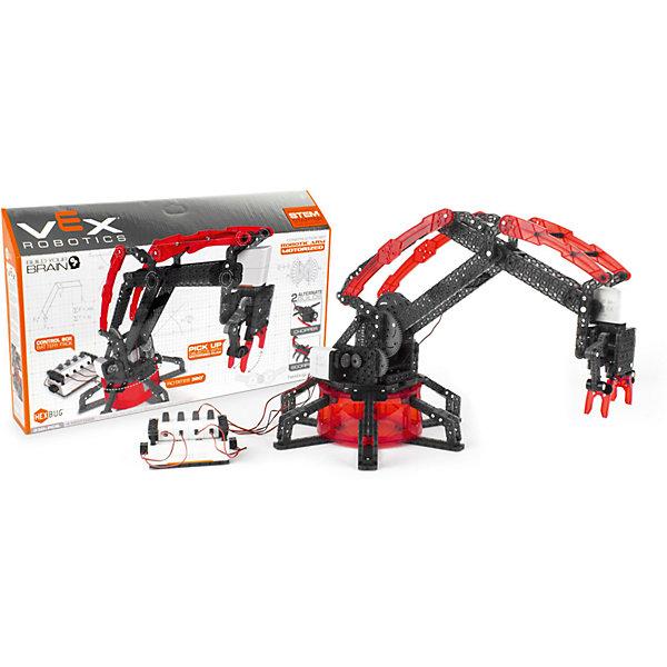 Конструктор VEX Robotic Arm-Motorized, HexbugПластмассовые конструкторы<br>Конструктор VEX Robotic Arm-Motorized, Hexbug (Хексбаг)<br><br>Характеристики:<br><br>• моторизированная модель манипулятора робота<br>• может передвигать предметы<br>• 4 мотора<br>• количество элементов: 330<br>• материал: пластик, металл<br><br>Конструктор VEX Robotic Arm-Motorized наглядно познакомит ребенка с основами механики. Из 330 деталей вы сможете собрать моторизированную модель манипулятора робота. Управляя роботом, вы сможете поднять и переместить небольшие предметы. Конструктор собирается вручную, без применения инструментов и клея. С такой увлекательной игрушкой ребенок никогда не заскучает!<br><br>Конструктор VEX Robotic Arm-Motorized, Hexbug (Хексбаг) можно купить в нашем интернет-магазине.<br>Ширина мм: 270; Глубина мм: 60; Высота мм: 460; Вес г: 1650; Возраст от месяцев: 36; Возраст до месяцев: 2147483647; Пол: Унисекс; Возраст: Детский; SKU: 5506932;