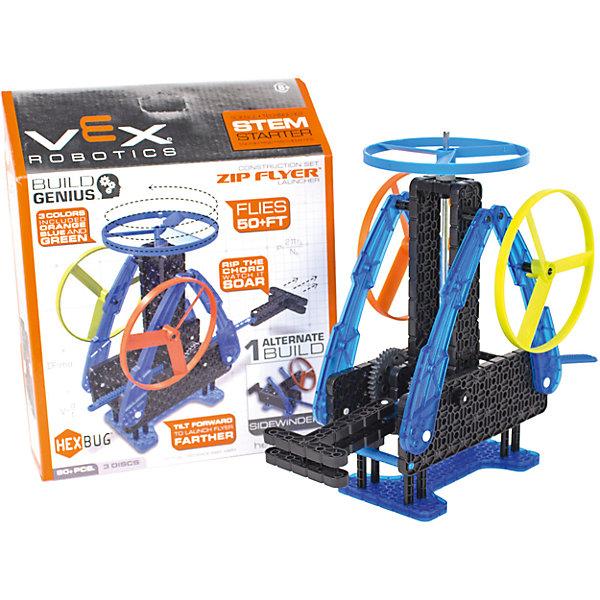 Конструктор VEX Zip Flyer, 80 деталей, HexbugПластмассовые конструкторы<br>Конструктор VEX Zip Flyer, 80 деталей, Hexbug (Хексбаг)<br><br>Характеристики:<br><br>• запускает винт вверх<br>• дальность действия: до 10 метров<br>• количество деталей: 80<br>• материал: пластик<br><br>Уникальный конструктор Zip Flyer позволит ребенку собрать небольшую установку, способную запустить винт вверх на расстояние до 10 метров. Конструктор собирается из 80 деталей. Запуск винта возможен со стола или с рук.  Ребенок сможет наглядно познакомиться с основами механики и физики.<br><br>Конструктор VEX Zip Flyer, 80 деталей, Hexbug (Хексбаг) вы можете купить в нашем интернет-магазине.<br>Ширина мм: 270; Глубина мм: 60; Высота мм: 200; Вес г: 380; Возраст от месяцев: 36; Возраст до месяцев: 2147483647; Пол: Унисекс; Возраст: Детский; SKU: 5506934;