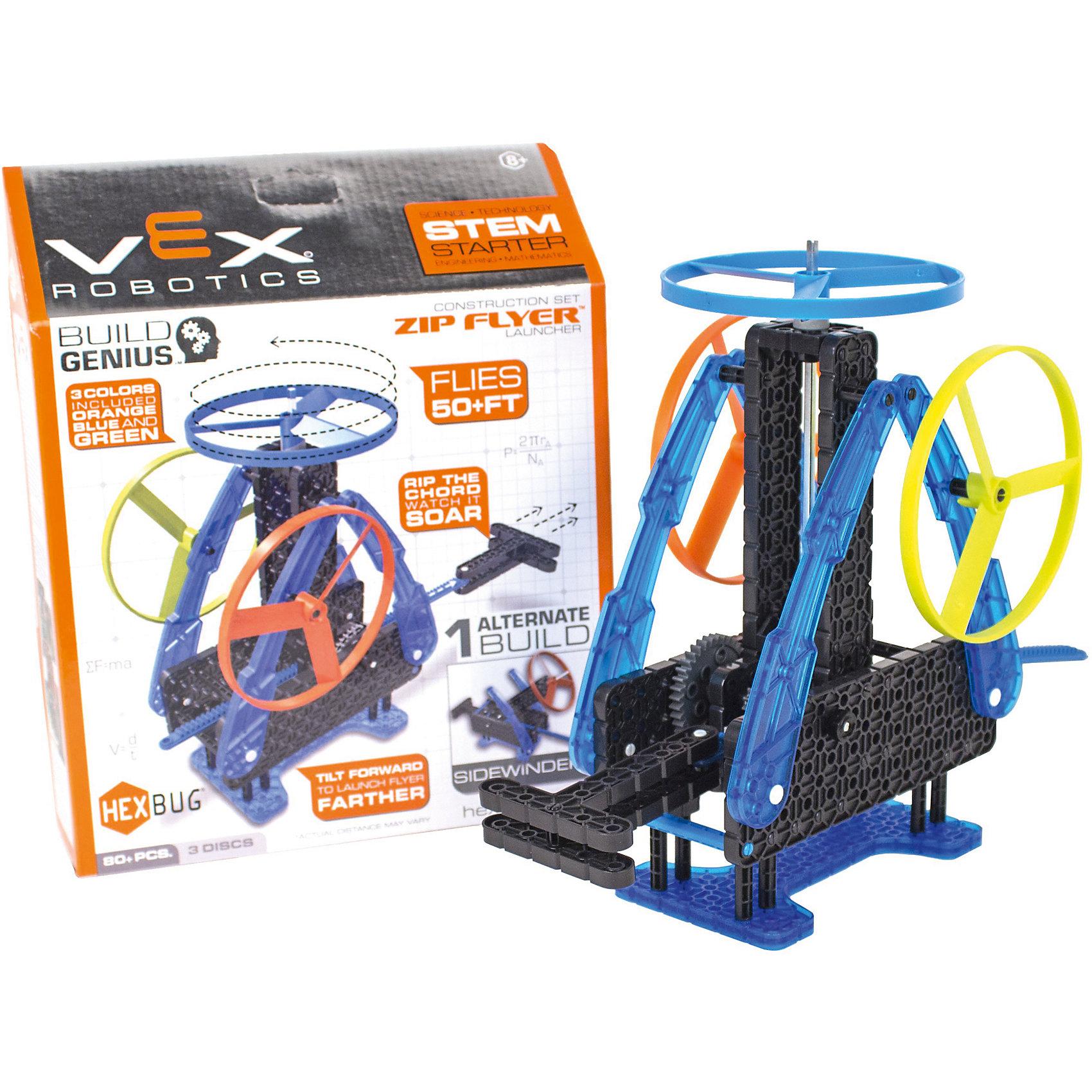 Конструктор VEX Zip Flyer, 80 деталей, HexbugПластмассовые конструкторы<br>Конструктор VEX Zip Flyer, 80 деталей, Hexbug (Хексбаг)<br><br>Характеристики:<br><br>• запускает винт вверх<br>• дальность действия: до 10 метров<br>• количество деталей: 80<br>• материал: пластик<br><br>Уникальный конструктор Zip Flyer позволит ребенку собрать небольшую установку, способную запустить винт вверх на расстояние до 10 метров. Конструктор собирается из 80 деталей. Запуск винта возможен со стола или с рук.  Ребенок сможет наглядно познакомиться с основами механики и физики.<br><br>Конструктор VEX Zip Flyer, 80 деталей, Hexbug (Хексбаг) вы можете купить в нашем интернет-магазине.<br><br>Ширина мм: 270<br>Глубина мм: 60<br>Высота мм: 200<br>Вес г: 380<br>Возраст от месяцев: 36<br>Возраст до месяцев: 2147483647<br>Пол: Унисекс<br>Возраст: Детский<br>SKU: 5506934