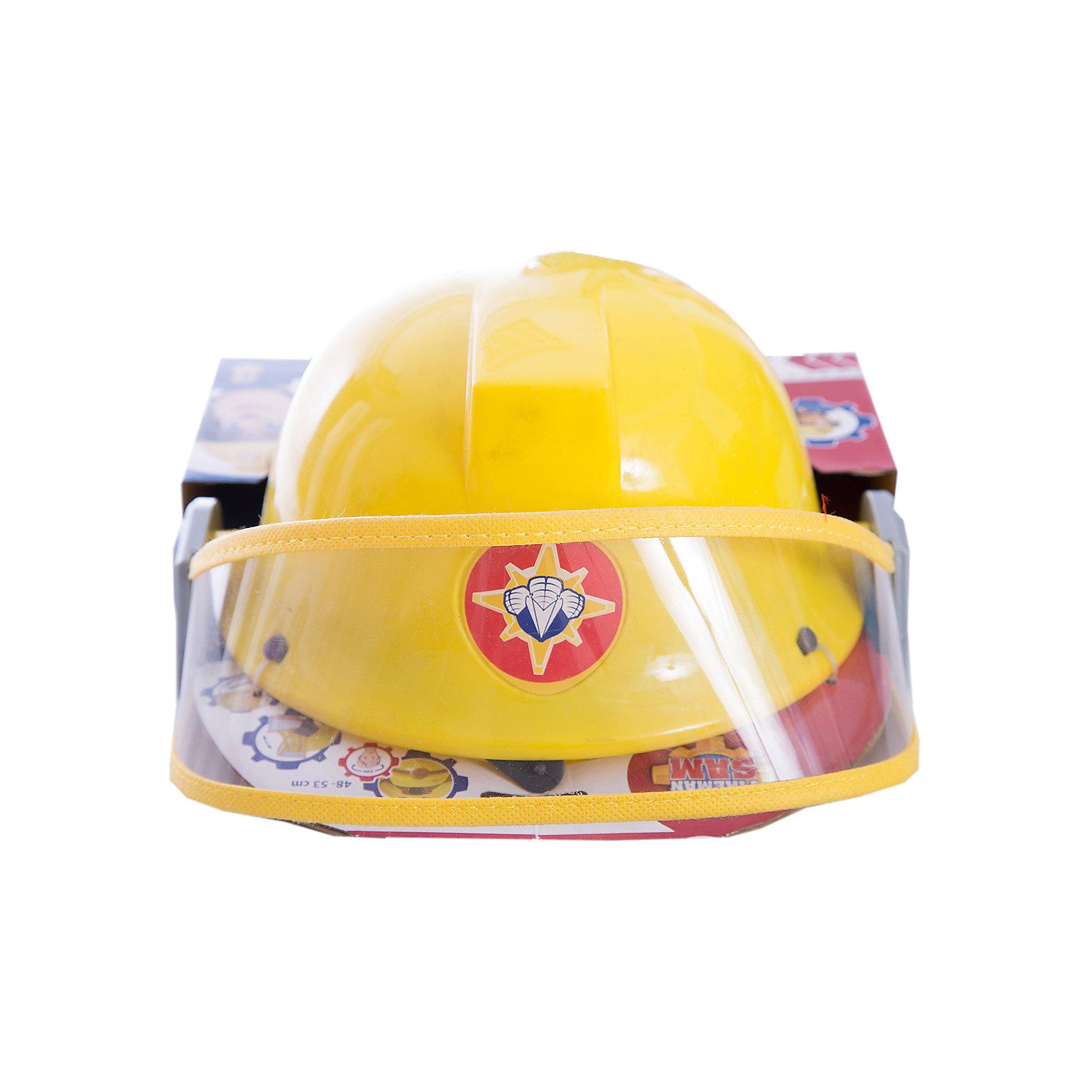 Каска Пожарный Сэм, диаметр 23 см, SimbaМастерская и инструменты<br>Каска Пожарный Сэм, диаметр 23 см, Simba (Симба)<br><br>Характеристики:<br><br>• фиксирующий ремешок<br>• защитное стекло<br>• вентиляционные отверстия<br>• диаметр каски: 23 см<br>• для окружности головы: 48-53 см<br>• материал: пластик, текстиль<br>• размер упаковки: 13х23,5х27,5 см<br><br>Каска Пожарный Сэм позволит ребенку почувствовать себя настоящим пожарником из любимого мультфильма. Каска выполнена из прочного пластика с фиксирующим ремешком из текстиля. Защитное стекло предотвратит повреждение глаз малыша. Вентиляционные отверстия в шлеме позволяют коже ребенка дышать во время игры. <br><br>Каску Пожарный Сэм, диаметр 23 см, Simba (Симба) вы можете купить в нашем интернет-магазине.<br><br>Ширина мм: 240<br>Глубина мм: 260<br>Высота мм: 200<br>Вес г: 200<br>Возраст от месяцев: 36<br>Возраст до месяцев: 84<br>Пол: Мужской<br>Возраст: Детский<br>SKU: 5506952