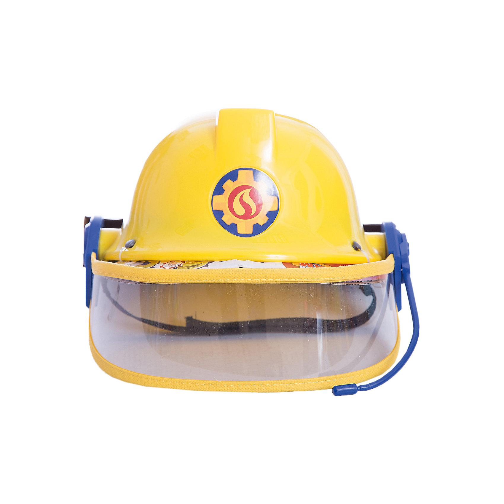 Каска с микрофоном Пожарный Сэм, диаметр 23 см, SimbaМастерская и инструменты<br>Каска с микрофоном Пожарный Сэм, диаметр 23 см, Simba (Симба)<br><br>Характеристики:<br><br>• фиксирующий ремешок<br>• защитное стекло<br>• диаметр каски: 23 см<br>• для окружности головы: 48-53 см<br>• материал: пластик, текстиль<br>• размер упаковки: 13х23,5х27,5 см<br>• вес: 100 грамм<br><br>Поклонники мультфильма Пожарный Сэм будут в восторге от красивой каски пожарного. Каска изготовлена из прочного пластика и имеет защитный ремешок с липучкой, предназначенный для фиксации. Регулируемое забрало защитит лицо от повреждений. Реалистичный дизайн каски с микрофоном позволит ребенку почувствовать себя настоящим пожарным, спешащим спасти людей из огня.<br><br>Каску с микрофоном Пожарный Сэм, диаметр 23 см, Simba (Симба) можно купить в нашем интернет-магазине.<br><br>Ширина мм: 130<br>Глубина мм: 235<br>Высота мм: 275<br>Вес г: 100<br>Возраст от месяцев: 36<br>Возраст до месяцев: 84<br>Пол: Мужской<br>Возраст: Детский<br>SKU: 5506953