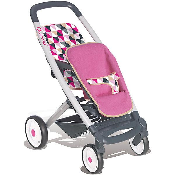 Прогулочная коляска для 2-х кукол MC&amp;Quinny, SmobyТранспорт и коляски для кукол<br>Прогулочная коляска для 2-х кукол MC&amp;Quinny, Simba (Симба)<br><br>Характеристики:<br><br>• стильный дизайн<br>• 2 сидения с ремнями безопасности<br>• прорезиненные колеса<br>• передние колеса вращаются на 360 градусов<br>• легкая и устойчивая<br>• легкоуправляемая<br>• размер коляски: 38,5х52х65 см<br>• материал: пластик, металл, текстиль<br>• размер упаковки: 15х34х53 см<br>• вес: 3 кг<br><br>Каждая девочка мечтает почувствовать себя мамой, заботящейся о малышах. Прогулочная коляска от Simba позволит девочке имитировать прогулку с детьми. Коляска имеет 2 сидения с ремнями безопасности. Прорезиненные колеса хорошо проезжают по дороге. Передние колеса могут вращаться на 360 градусов. Коляска создана с учета роста и физических возможностей ребенка, поэтому она очень легкая, устойчивая и хорошо управляется. <br><br>Прогулочную коляску для 2-х кукол MC&amp;Quinny, Simba (Симба) вы можете купить в нашем интернет-магазине.<br><br>Ширина мм: 340<br>Глубина мм: 150<br>Высота мм: 540<br>Вес г: 2950<br>Возраст от месяцев: 36<br>Возраст до месяцев: 84<br>Пол: Женский<br>Возраст: Детский<br>SKU: 5506954