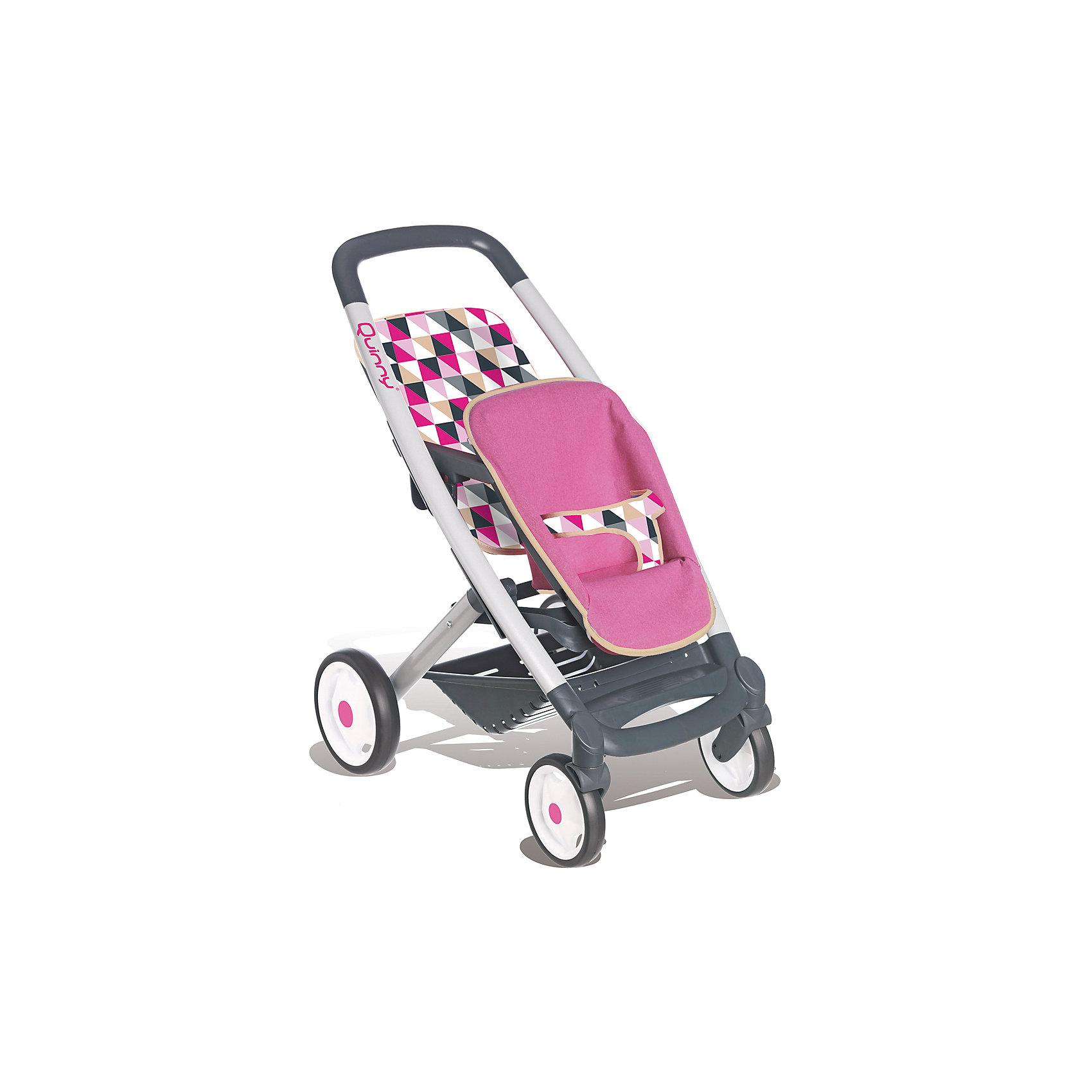 Прогулочная коляска для 2-х кукол MC&amp;Quinny, SmobyКоляски и транспорт для кукол<br>Прогулочная коляска для 2-х кукол MC&amp;Quinny, Simba (Симба)<br><br>Характеристики:<br><br>• стильный дизайн<br>• 2 сидения с ремнями безопасности<br>• прорезиненные колеса<br>• передние колеса вращаются на 360 градусов<br>• легкая и устойчивая<br>• легкоуправляемая<br>• размер коляски: 38,5х52х65 см<br>• материал: пластик, металл, текстиль<br>• размер упаковки: 15х34х53 см<br>• вес: 3 кг<br><br>Каждая девочка мечтает почувствовать себя мамой, заботящейся о малышах. Прогулочная коляска от Simba позволит девочке имитировать прогулку с детьми. Коляска имеет 2 сидения с ремнями безопасности. Прорезиненные колеса хорошо проезжают по дороге. Передние колеса могут вращаться на 360 градусов. Коляска создана с учета роста и физических возможностей ребенка, поэтому она очень легкая, устойчивая и хорошо управляется. <br><br>Прогулочную коляску для 2-х кукол MC&amp;Quinny, Simba (Симба) вы можете купить в нашем интернет-магазине.<br><br>Ширина мм: 340<br>Глубина мм: 150<br>Высота мм: 540<br>Вес г: 2950<br>Возраст от месяцев: 36<br>Возраст до месяцев: 84<br>Пол: Женский<br>Возраст: Детский<br>SKU: 5506954