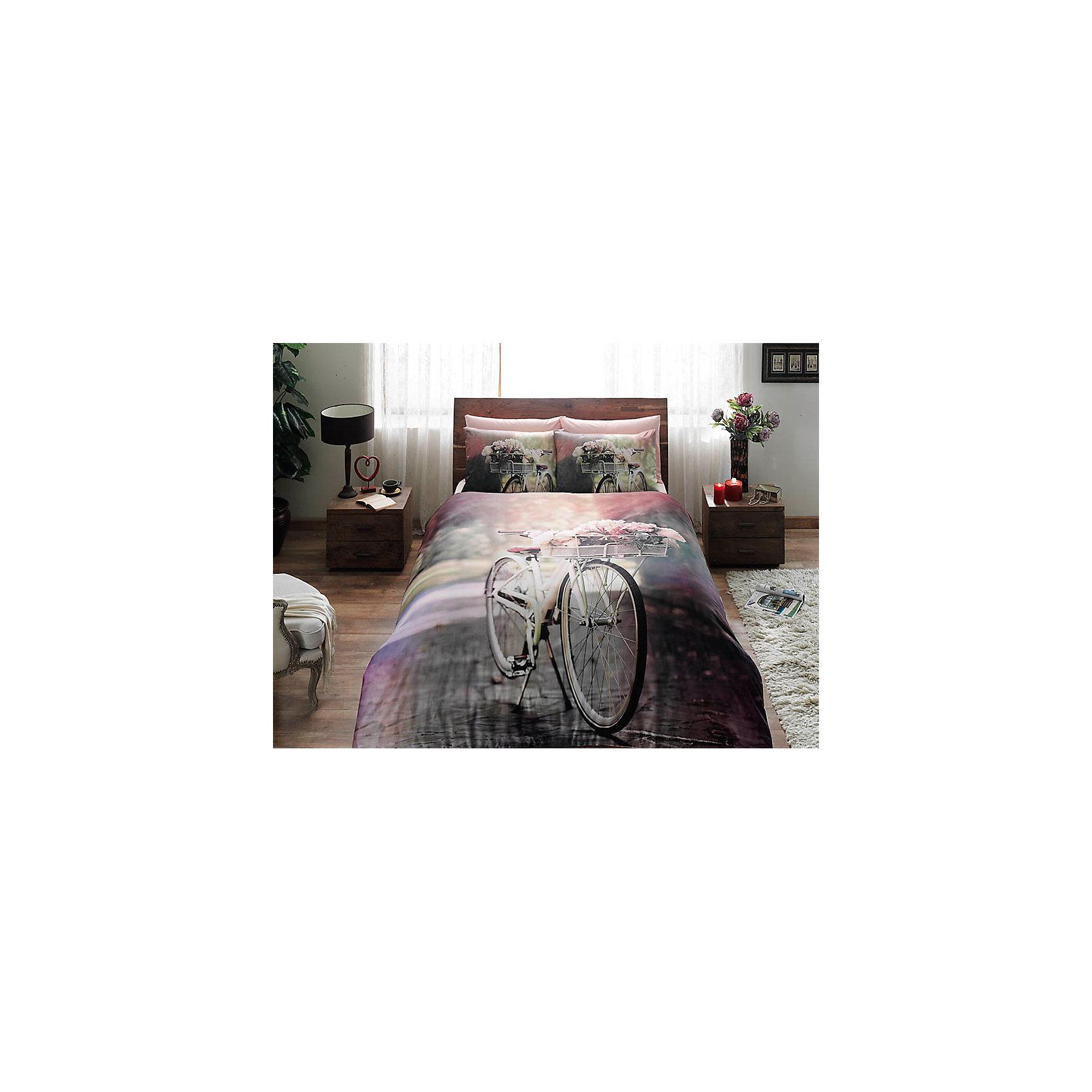 Постельное белье 1,5сп. Sunshine, сатин, TAC, розовыйДомашний текстиль<br>Характеристики:<br><br>• Вид домашнего текстиля: постельное белье<br>• Тип постельного белья по размерам: 1,5 спальное<br>• Рисунок: велосипедная прогулка<br>• Сезон: круглый год<br>• Материал: сатин, 100% хлопок <br>• Цвет: оттенки розового, серый, зеленый<br>• Комплектация: <br> пододеяльник – 1 шт. 160*220 см <br> простынь – 1 шт. 180*260 см<br> наволочки – 1 шт. 50*70 см<br>• Вид застежки: пуговицы<br>• Тип упаковки: книжка картонная<br>• Вес в упаковке: 2 кг 200 г<br>• Размеры упаковки (Д*Ш*В): 27*7*37 см<br>• Особенности ухода: машинная стирка <br><br>Постельное белье 1,5 сп. Sunshine, сатин, TAC, розовый от наиболее популярного бренда на отечественном рынке среди производителей комплектов постельного белья и текстильных принадлежностей, выпуском которого занимается производственная компания, являющаяся частью мирового холдинга Zorlu Holding Textiles Group. <br><br>Комплект состоит из 3-х предметов и включает в себя: пододеяльник, простынь и две наволочки. Все изделия выполнены из хлопкового сатина, который характеризуется высокими износоустойчивыми качествами, не теряет формы и цвета при длительном использовании, после стирки изделия полностью расправляются и сохраняют ровность полотна, поэтому они не нуждаются в глажке. <br><br>Специальным образом скрученная нить, из которой изготовлено сатиновое полотно, обеспечивает характерный блеск и защиту от образования катышков. Обладает повышенными гигроскопичными качествами, благодаря чему оно комфортно для использования в любое время года. Постельное белье выполнено в стильном дизайне: сюжетный принт, изображающий велосипедную прогулку придает комплекту особую оригинальность. <br><br>Постельное белье 1,5 сп. Sunshine, сатин, TAC, розовый можно купить в нашем интернет-магазине.<br><br>Ширина мм: 270<br>Глубина мм: 70<br>Высота мм: 370<br>Вес г: 2200<br>Возраст от месяцев: 36<br>Возраст до месяцев: 1188<br>Пол: Унисекс<br>Возраст: Детский<br>SK