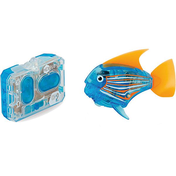 Микро-робот Aqua Bot, синий, HexbugИнтерактивные животные<br>Микро-робот Aqua Bot, синий, Hexbug (Хексбаг)<br><br>Характеристики:<br><br>• плавает в любом направлении<br>• автоматическое отключение вне воды<br>• цвет: синий<br>• размер: 8х4х2 см<br>• батарейки: AG13 - 2 шт. (входят в комплект)<br>• материал: пластик, металл<br>• размер упаковки: 19х6х4 см<br>• вес: 31 грамм<br><br>Aqua Bot - маленькая рыбка-робот, которая поразит вас своими размерами и ловкостью. Этот малыш быстро передвигается в воде в любом направлении. Положите микроробота в воду - и он тут же отправится покорять водное пространство. Если вытащить робота из воды, он автоматически отключается для экономии энергии. Такая замечательная игрушка, несомненно, понравится всем членам семьи!<br><br>Микро-робот Aqua Bot, синий, Hexbug (Хексбаг) можно купить в нашем интернет-магазине.<br><br>Ширина мм: 160<br>Глубина мм: 90<br>Высота мм: 120<br>Вес г: 85<br>Возраст от месяцев: 36<br>Возраст до месяцев: 2147483647<br>Пол: Унисекс<br>Возраст: Детский<br>SKU: 5507179