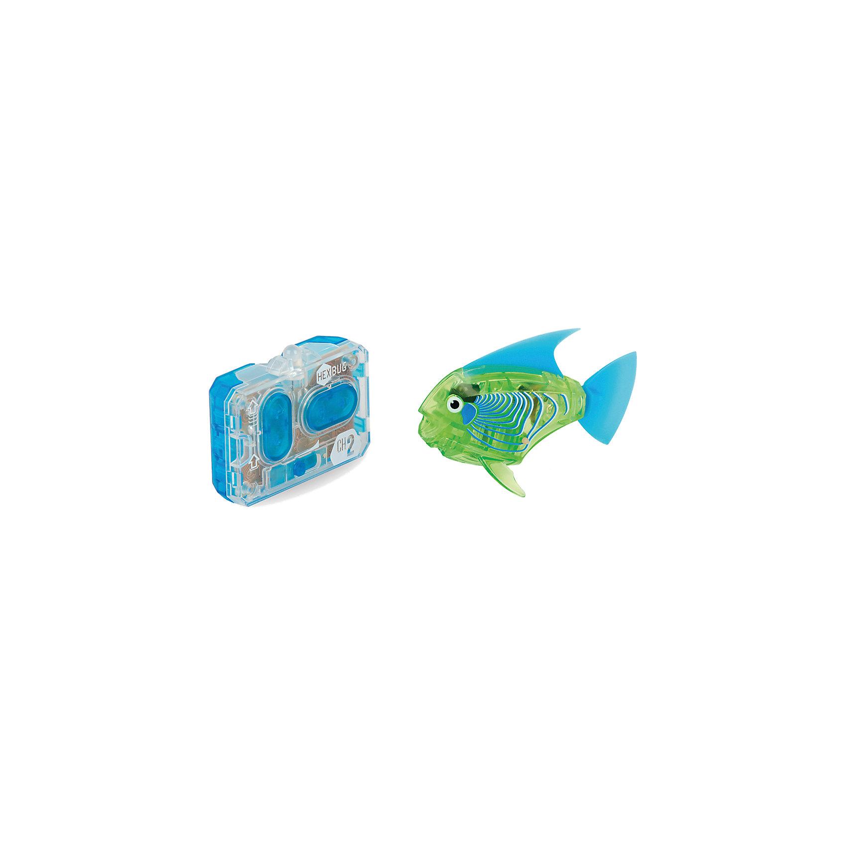 Микро-робот Aqua Bot, зеленый, HexbugИнтерактивные животные<br>Микро-робот Aqua Bot, зеленый, Hexbug (Хексбаг)<br><br>Характеристики:<br><br>• плавает в любом направлении<br>• автоматическое отключение вне воды<br>• цвет: зеленый<br>• размер: 8х4х2 см<br>• батарейки: AG13 - 2 шт. (входят в комплект)<br>• материал: пластик, металл<br>• размер упаковки: 19х6х4 см<br>• вес: 31 грамм<br><br>Aqua Bot - маленькая рыбка-робот, которая поразит вас своими размерами и ловкостью. Этот малыш быстро передвигается в воде в любом направлении. Положите микроробота в воду - и он тут же отправится покорять водное пространство. Если вытащить робота из воды, он автоматически отключается для экономии энергии. Такая замечательная игрушка, несомненно, понравится всем членам семьи!<br><br>Микро-робот Aqua Bot, зеленый, Hexbug (Хексбаг) можно купить в нашем интернет-магазине.<br><br>Ширина мм: 160<br>Глубина мм: 90<br>Высота мм: 120<br>Вес г: 85<br>Возраст от месяцев: 36<br>Возраст до месяцев: 2147483647<br>Пол: Унисекс<br>Возраст: Детский<br>SKU: 5507180