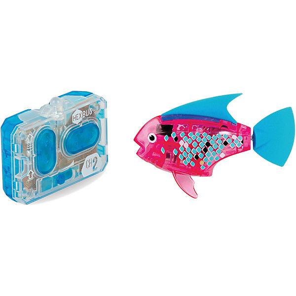 Микро-робот Aqua Bot, розовый, HexbugИнтерактивные игрушки для малышей<br>Микро-робот Aqua Bot, розовый, Hexbug (Хексбаг)<br><br>Характеристики:<br><br>• плавает в любом направлении<br>• автоматическое отключение вне воды<br>• цвет: розовый<br>• размер: 8х4х2 см<br>• батарейки: AG13 - 2 шт. (входят в комплект)<br>• материал: пластик, металл<br>• размер упаковки: 19х6х4 см<br>• вес: 31 грамм<br><br>Aqua Bot - маленькая рыбка-робот, которая поразит вас своими размерами и ловкостью. Этот малыш быстро передвигается в воде в любом направлении. Положите микроробота в воду - и он тут же отправится покорять водное пространство. Если вытащить робота из воды, он автоматически отключается для экономии энергии. Такая замечательная игрушка, несомненно, понравится всем членам семьи!<br><br>Микро-робот Aqua Bot, розовый, Hexbug (Хексбаг) можно купить в нашем интернет-магазине.<br>Ширина мм: 160; Глубина мм: 90; Высота мм: 120; Вес г: 85; Возраст от месяцев: 36; Возраст до месяцев: 2147483647; Пол: Унисекс; Возраст: Детский; SKU: 5507181;