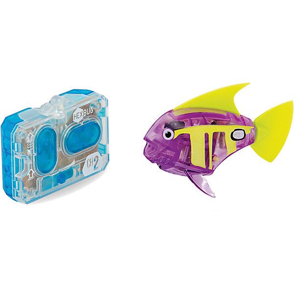 Микро-робот Aqua Bot, фиолетовый, HexbugИнтерактивные животные<br>Микро-робот Aqua Bot, фиолетовый, Hexbug (Хексбаг)<br><br>Характеристики:<br><br>• плавает в любом направлении<br>• автоматическое отключение вне воды<br>• цвет: фиолетовый<br>• размер: 8х4х2 см<br>• батарейки: AG13 - 2 шт. (входят в комплект)<br>• материал: пластик, металл<br>• размер упаковки: 19х6х4 см<br>• вес: 31 грамм<br><br>Aqua Bot - маленькая рыбка-робот, которая поразит вас своими размерами и ловкостью. Этот малыш быстро передвигается в воде в любом направлении. Положите микроробота в воду - и он тут же отправится покорять водное пространство. Если вытащить робота из воды, он автоматически отключается для экономии энергии. Такая замечательная игрушка, несомненно, понравится всем членам семьи!<br><br>Микро-робот Aqua Bot, фиолетовый, Hexbug (Хексбаг) можно купить в нашем интернет-магазине.<br>Ширина мм: 160; Глубина мм: 90; Высота мм: 120; Вес г: 85; Возраст от месяцев: 36; Возраст до месяцев: 2147483647; Пол: Унисекс; Возраст: Детский; SKU: 5507182;