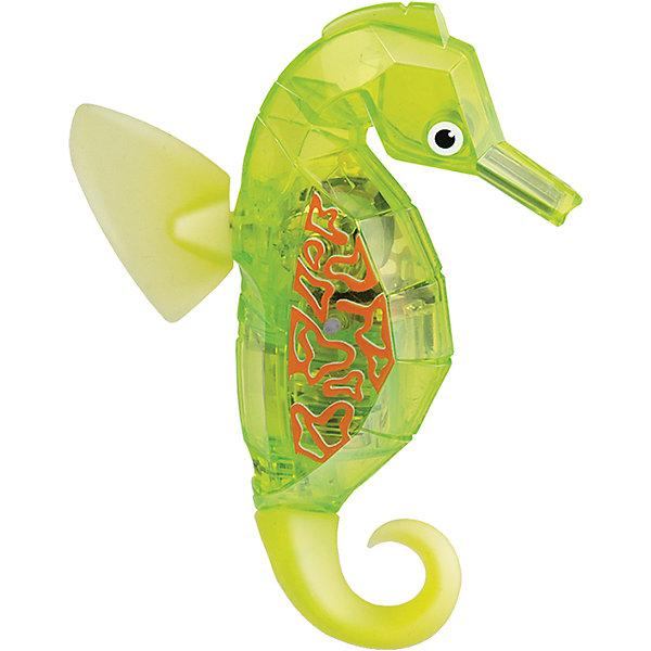 Микро-робот Aqua Bot Морской конек, желтый, HexbugИнтерактивные игрушки для малышей<br>Микро-робот Aqua Bot Морской конек, желтый, Hexbug (Хексбаг)<br><br>Характеристики:<br><br>• плавает в любом направлении<br>• автоматическое отключение вне воды<br>• световые эффекты<br>• цвет: желтый<br>• размер: 9х6,5х2 см<br>• батарейки: AG13 - 2 шт. (входят в комплект)<br>• материал: пластик, металл<br>• размер упаковки: 12х6х17 см<br>• вес: 85 грамм<br><br>Морской конек Aqua Bot подарит вам много радости и незабываемых эмоций. Он быстро плавает в воде, ныряет и двигается в разных направлениях. Лампочки внутри игрушки светятся во время движения. Робот автоматически отключается после пяти минут работы или при нахождении вне воды. Чтобы морской конек снова начал двигаться, достаточно всколыхнуть воду или постучать по стенке аквариума. Этот морской конек - отличный подарок любителям роботов!<br><br>Микро-робота Aqua Bot Морской конек, желтый, Hexbug (Хексбаг) вы можете купить в нашем интернет-магазине.<br>Ширина мм: 160; Глубина мм: 80; Высота мм: 120; Вес г: 58; Возраст от месяцев: 36; Возраст до месяцев: 2147483647; Пол: Унисекс; Возраст: Детский; SKU: 5507188;