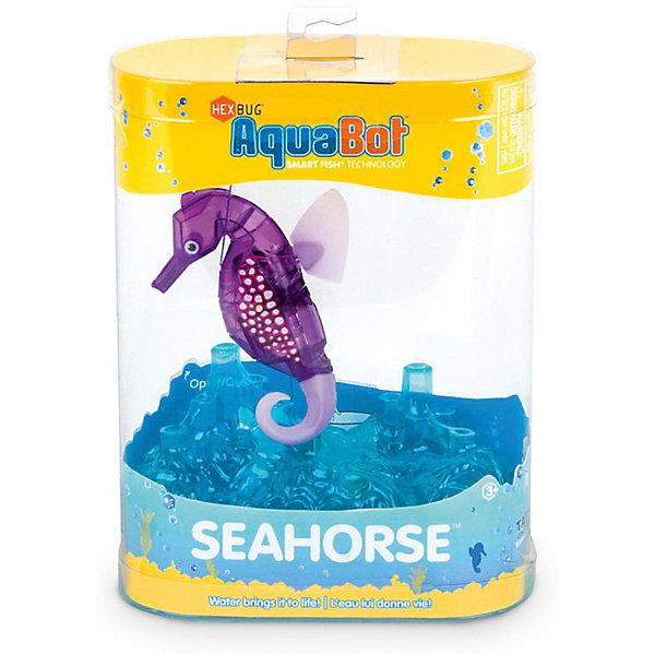 Микро-робот Aqua Bot Морской конек, фиолетовый, HexbugИнтерактивные игрушки для малышей<br>Микро-робот Aqua Bot Морской конек, фиолетовый, Hexbug (Хексбаг)<br><br>Характеристики:<br><br>• плавает в любом направлении<br>• автоматическое отключение вне воды<br>• световые эффекты<br>• цвет: фиолетовый<br>• размер: 9х6,5х2 см<br>• батарейки: AG13 - 2 шт. (входят в комплект)<br>• материал: пластик, металл<br>• размер упаковки: 12х6х17 см<br>• вес: 85 грамм<br><br>Морской конек Aqua Bot подарит вам много радости и незабываемых эмоций. Он быстро плавает в воде, ныряет и двигается в разных направлениях. Лампочки внутри игрушки светятся во время движения. Робот автоматически отключается после пяти минут работы или при нахождении вне воды. Чтобы морской конек снова начал двигаться, достаточно всколыхнуть воду или постучать по стенке аквариума. Этот морской конек - отличный подарок любителям роботов!<br><br>Микро-робота Aqua Bot Морской конек, фиолетовый, Hexbug (Хексбаг) вы можете купить в нашем интернет-магазине.<br><br>Ширина мм: 160<br>Глубина мм: 80<br>Высота мм: 120<br>Вес г: 58<br>Возраст от месяцев: 36<br>Возраст до месяцев: 2147483647<br>Пол: Унисекс<br>Возраст: Детский<br>SKU: 5507189