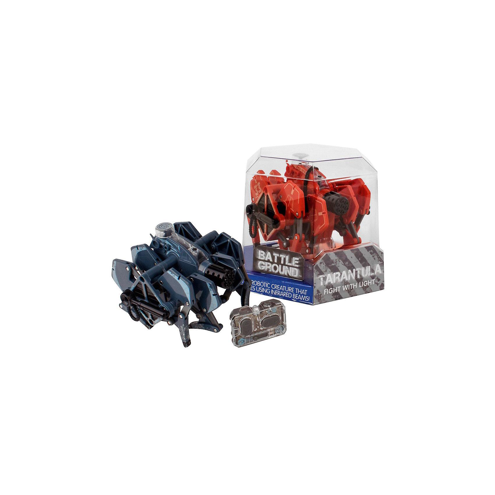 Микро-робот Battle Tarantula, HexbugИнтерактивные игрушки для малышей<br>Микро-робот Battle Tarantula, Hexbug (Хексбаг)<br><br>Характеристики:<br><br>• световые и звуковые эффекты<br>• автоматическое отключение<br>• батарейки: LR44 - 5 шт.<br>• материал: пластик, металл<br>• размер упаковки: 14х14х11 см<br>• вес: 175 грамм<br><br>Микроробот Battle Tarantula понравится каждому любителю захватывающих сражений. Прочная конструкция робота способна выдержать удар самого сильного противника. Игрушка оснащена световыми и звуковыми эффектами. После десяти попаданий по противнику робот автоматически отключается. Выключите и включите робота, чтобы он снова ринулся в бой.<br><br>Микро-робота Battle Tarantula, Hexbug (Хексбаг) можно купить в нашем интернет-магазине.<br><br>Ширина мм: 160<br>Глубина мм: 80<br>Высота мм: 120<br>Вес г: 230<br>Возраст от месяцев: 36<br>Возраст до месяцев: 2147483647<br>Пол: Унисекс<br>Возраст: Детский<br>SKU: 5507191