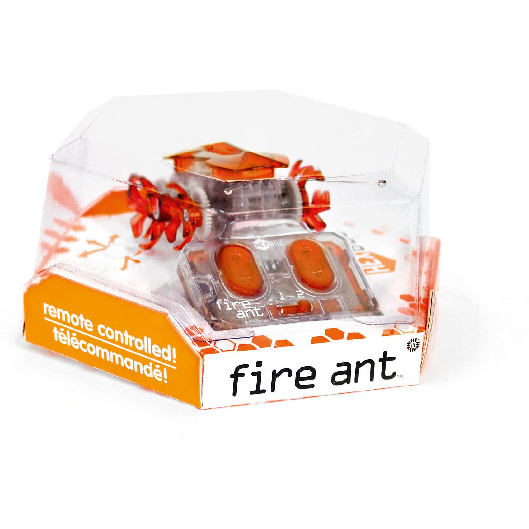 Микро-робот Огненный муравей, HexbugИнтерактивные животные<br>Микро-робот Огненный муравей, Hexbug (Хексбаг)<br><br>Характеристики:<br><br>• двухканальное управление<br>• цепкие лапки<br>• размер: 6,5х5х3 см<br>• материал: пластик, металл<br>• батарейки: AG13 - 3 (входят в комплект)<br>• батарейки пульта: AG13 - 2 шт.<br>• размер упаковки: 12х12х6 см<br>• вес: 70 грамм<br><br>Огненный муравей - микроробот от популярного бренда Hexbug. Его обновленные лапки легко цепляются за поверхность и быстро движутся вперед, принося зрителям много радостных впечатлений. Двухканальное управление позволяет играть с друзьями и устраивать настоящие сражения роботов. Для работы необходимы пять батареек AG13 (входят в комплект).<br><br>Микро-робота Огненный муравей, Hexbug (Хексбаг) вы можете купить в нашем интернет-магазине.<br><br>Ширина мм: 60<br>Глубина мм: 110<br>Высота мм: 130<br>Вес г: 69<br>Возраст от месяцев: 36<br>Возраст до месяцев: 2147483647<br>Пол: Унисекс<br>Возраст: Детский<br>SKU: 5507196