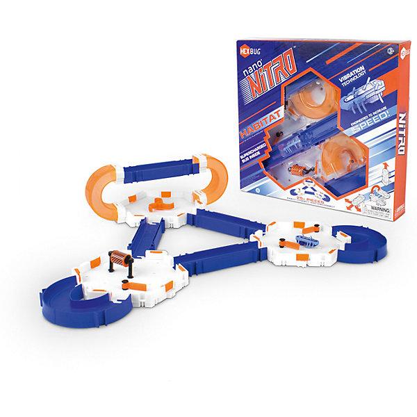 Нано Нитро Хабитат сет - большой игровой набор для Нано V2, HexbugИнтерактивные игрушки для малышей<br>Нано Нитро Хабитат сет - большой игровой набор для Нано V2, Hexbug (Хексбаг)<br><br>Характеристики:<br><br>• большой лабиринт и площадки с аттракционами<br>• подходит для роботов Нано Hexbug<br>• более 25 деталей<br>• микроробот в комплекте<br>• материал: пластик<br>• батарейки: AG13 (входят в комплект)<br>• размер упаковки: 32х32х5 см<br><br>Хабитат сет - огромный нанодром для микророботов Hexbug. В комплект входят более 25 деталей, из которых вы сможете построить крутые горки, площадки и аттракционы для роботов. Детали можно менять по вашему усмотрению. Трехэтажный лабиринт сделает гонки жучков еще увлекательнее. Постройте площадку, посадите туда жучков и наблюдайте, как маленькие роботы ловко справляются  с препятствиями.<br><br>Нано Нитро Хабитат сет - большой игровой набор для Нано V2, Hexbug (Хексбаг) вы можете купить в нашем интернет-магазине.<br><br>Ширина мм: 320<br>Глубина мм: 50<br>Высота мм: 350<br>Вес г: 677<br>Возраст от месяцев: 36<br>Возраст до месяцев: 2147483647<br>Пол: Унисекс<br>Возраст: Детский<br>SKU: 5507198
