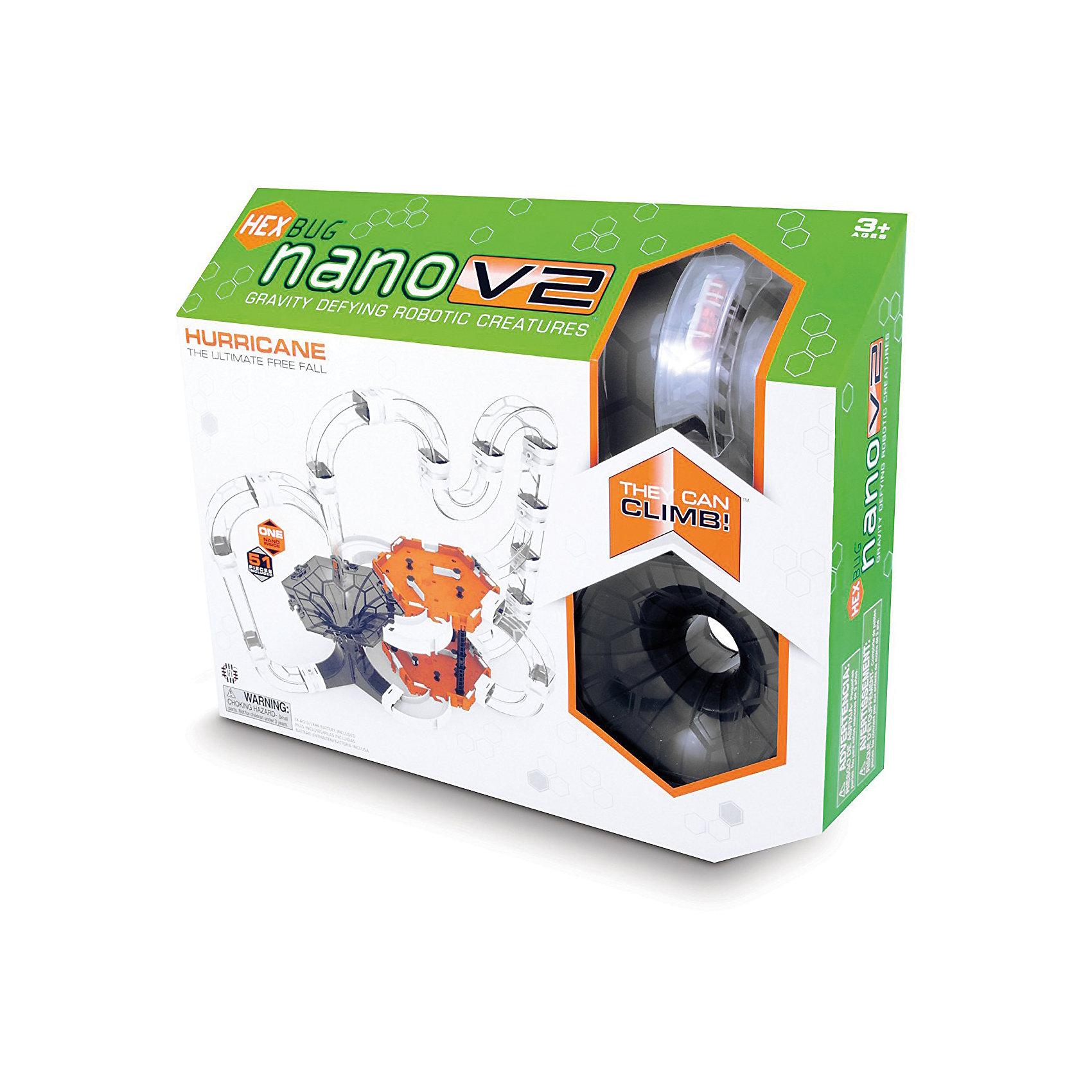 Нано V2 Харикейн сэт - большой игровой набор для Нано V2, HexbugИнтерактивные игрушки для малышей<br>Нано V2 Харикейн сэт - большой игровой набор для Нано V2, Hexbug (Хексбаг)<br><br>Характеристики:<br><br>• разветвленная система туннелей<br>• 2 шестиугольные площадки<br>• микро-робот в комплекте<br>• батарейки: AG13 - 1 шт. (входит в комплект<br>• размер упаковки: 43х35х9 см<br><br>Харикен сэт создан специально для поклонников микро-роботов Нано V2. Конструкция представляет собой огромный лабиринт с множеством тоннелей и двумя площадками. Ваши маленькие жучки будут резвиться на поверхности лабиринта, карабкаться по трубкам и радовать вас своей ловкостью. Главная особенность лабиринта - черная воронка, в которую смогут попасть все жучки. Это представление порадует вас оригинальным исполнением.<br><br>Нано V2 Харикейн сэт - большой игровой набор для Нано V2, Hexbug (Хексбаг) можно купить в нашем интернет-магазине.<br><br>Ширина мм: 350<br>Глубина мм: 90<br>Высота мм: 430<br>Вес г: 1004<br>Возраст от месяцев: 36<br>Возраст до месяцев: 2147483647<br>Пол: Унисекс<br>Возраст: Детский<br>SKU: 5507201