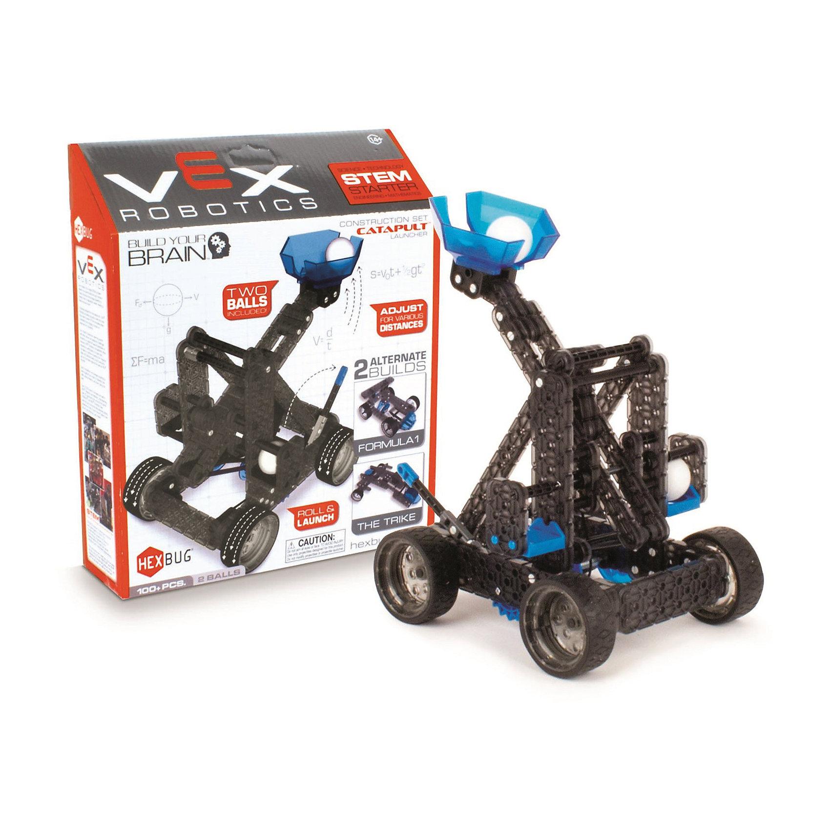 Конструктор VEX Catapult Launcher, 100 деталей, HexbugПластмассовые конструкторы<br>Конструктор VEX Catapult Launcher, 100 деталей, Hexbug (Хексбаг)<br><br>Характеристики:<br><br>• можно собрать катапульту или гоночные машины<br>• снаряды в комплекте<br>• прост в управлении<br>• дальность действия: до 3-х метров<br>• количество деталей: 100<br>• размер упаковки: 10х40х35 см<br>• вес: 430 грамм<br><br>Конструктор VEX Catapult Launcher позволит ребенку самостоятельно собрать уменьшенную копию настоящей средневековой катапульты. Помимо катапульты, можно собрать гоночные машины. Катапульта стреляет снарядами на расстояние до трех метров. Процесс игры познакомит ребенка с основами механики и физики. Catapult Launcher - отличный подарок для юных конструкторов.<br><br>Конструктор VEX Catapult Launcher, 100 деталей, Hexbug (Хексбаг) можно купить в нашем интернет-магазине.<br><br>Ширина мм: 270<br>Глубина мм: 60<br>Высота мм: 230<br>Вес г: 426<br>Возраст от месяцев: 36<br>Возраст до месяцев: 2147483647<br>Пол: Унисекс<br>Возраст: Детский<br>SKU: 5507204