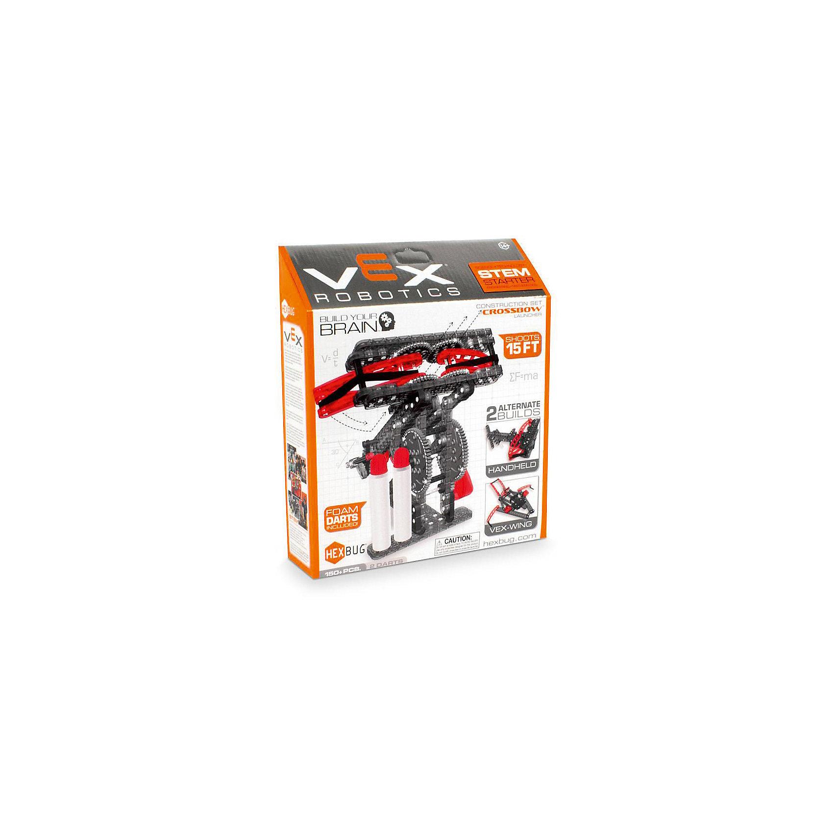 Конструктор VEX Crossbow Launcher, 150 деталей, HexbugПластмассовые конструкторы<br>Конструктор VEX Crossbow Launcher, 150 деталей, Hexbug (Хексбаг)<br><br>Характеристики:<br><br>• можно собрать осадную машину Баллиста<br>• снаряды в комплекте<br>• прост в управлении<br>• дальность действия: до 4,5 метров<br>• количество деталей: 150<br>• размер упаковки: 10х40х35 см<br>• вес: 460 грамм<br><br>Конструктор VEX Crossbow Launcher позволит ребенку самостоятельно собрать уменьшенную копию настоящей средневековой осадной машины Баллиста. Она способна стрелять снарядами на расстояние до 4,5 метров. Процесс игры познакомит ребенка с основами механики и физики. Crossbow Launcher - отличный подарок для юных конструкторов.<br><br>Конструктор VEX Crossbow Launcher, 150 деталей, Hexbug (Хексбаг) можно купить в нашем интернет-магазине.<br><br>Ширина мм: 270<br>Глубина мм: 60<br>Высота мм: 230<br>Вес г: 455<br>Возраст от месяцев: 36<br>Возраст до месяцев: 2147483647<br>Пол: Унисекс<br>Возраст: Детский<br>SKU: 5507205