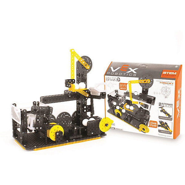 Конструктор VEX Forklift Ball Machine, 270 деталей, HexbugПластмассовые конструкторы<br>Конструктор VEX Forklift Ball Machine, 270 деталей, Hexbug (Хексбаг)<br><br>Характеристики:<br><br>• несколько вариантов сборки<br>• прост в управлении<br>• подходит к другим конструкторам VEX<br>• количество деталей: 270<br>• размер упаковки: 10х40х35 см<br>• вес: 900 грамм<br><br>Forklift Ball Machine - увлекательный конструктор для детей от  пяти лет. Из 270 деталей ребенок сможет построить интересный механизм, способный быстро поднимать и передвигать маленькие шарики. Готовый механизм очень прост в управлении. Все детали подходят к другим наборам VEX. Игра с конструктором VEX наглядно познакомит ребенка с миром физики и механики.<br><br>Конструктор VEX Forklift Ball Machine, 270 деталей, Hexbug (Хексбаг) вы можете купить в нашем интернет-магазине.<br>Ширина мм: 270; Глубина мм: 60; Высота мм: 230; Вес г: 897; Возраст от месяцев: 36; Возраст до месяцев: 2147483647; Пол: Унисекс; Возраст: Детский; SKU: 5507206;