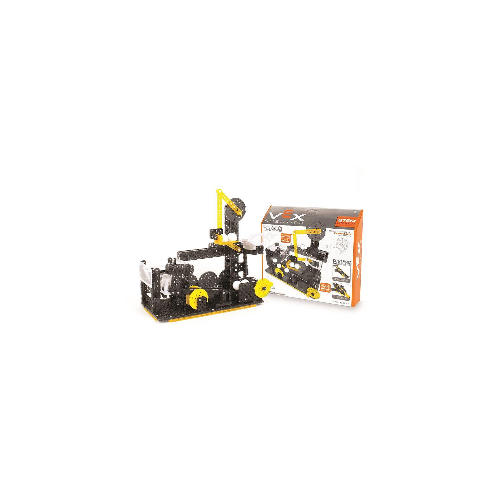 Конструктор VEX Forklift Ball Machine, 270 деталей, HexbugПластмассовые конструкторы<br>Конструктор VEX Forklift Ball Machine, 270 деталей, Hexbug (Хексбаг)<br><br>Характеристики:<br><br>• несколько вариантов сборки<br>• прост в управлении<br>• подходит к другим конструкторам VEX<br>• количество деталей: 270<br>• размер упаковки: 10х40х35 см<br>• вес: 900 грамм<br><br>Forklift Ball Machine - увлекательный конструктор для детей от  пяти лет. Из 270 деталей ребенок сможет построить интересный механизм, способный быстро поднимать и передвигать маленькие шарики. Готовый механизм очень прост в управлении. Все детали подходят к другим наборам VEX. Игра с конструктором VEX наглядно познакомит ребенка с миром физики и механики.<br><br>Конструктор VEX Forklift Ball Machine, 270 деталей, Hexbug (Хексбаг) вы можете купить в нашем интернет-магазине.<br><br>Ширина мм: 270<br>Глубина мм: 60<br>Высота мм: 230<br>Вес г: 897<br>Возраст от месяцев: 36<br>Возраст до месяцев: 2147483647<br>Пол: Унисекс<br>Возраст: Детский<br>SKU: 5507206
