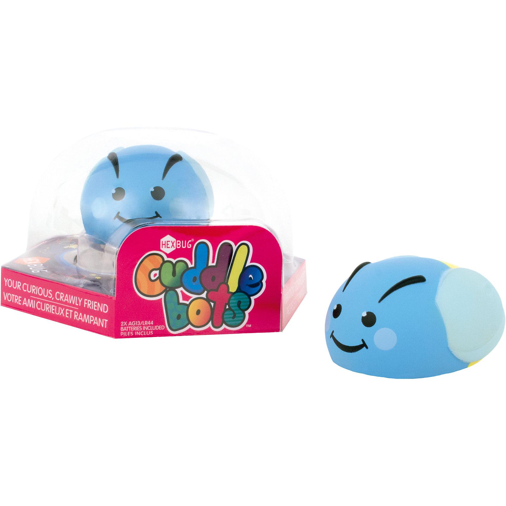 Микро-робот CuddleBot, голубой, HexbugПрочие интерактивные игрушки<br>Микро-робот CuddleBot, голубой, Hexbug (Хексбаг)<br><br>Характеристики:<br><br>• мягкий и приятный<br>• безопасен для ребенка<br>• материал: пластик<br>• размер упаковки: 14х14х7 см<br>• вес: 60 грамм<br><br>CuddleBot - забавный микроробот от Hexbug. Он очень милый, веселый и приятный на ощупь. Игрушка полностью безопасна даже для малышей, поэтому вы смело можете доверить ей развлечения ребенка. <br><br>Микро-робота CuddleBot, голубой, Hexbug (Хексбаг) можно купить в нашем интернет-магазине.<br><br>Ширина мм: 70<br>Глубина мм: 110<br>Высота мм: 120<br>Вес г: 63<br>Возраст от месяцев: 36<br>Возраст до месяцев: 2147483647<br>Пол: Унисекс<br>Возраст: Детский<br>SKU: 5507214