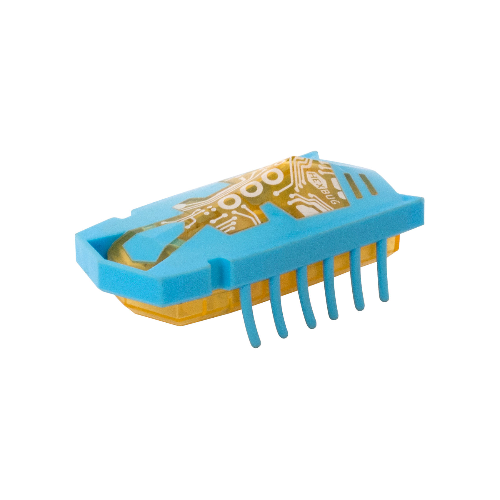Микро-робот Nano Junior, голубой, HexbugИнтерактивные игрушки для малышей<br>Микро-робот Nano Junior, голубой, Hexbug (Хексбаг)<br><br>Характеристики:<br><br>• 12 лапок<br>• яркий дизайн<br>• быстро двигается<br>• устойчивый<br>• материал: пластик, металл<br>• длина робота: 7,5 см<br>• батарейки: LR44 - 3 шт. (входят в комплект)<br>• размер упаковки: 4х9х18 см<br>• цвет: голубой<br><br>Nano Junior - микро-робот от известного производителя Hexbug. Он быстро шевелит двенадцатью лапками и двигается за счет вибрации. Нано Джуниор имеет достаточно большой размер, чтобы ребенок не смог его проглотить. Яркий дизайн микро-робота, несомненно, придется по вкусу детям и взрослым!<br><br>Микро-робота Nano Junior, голубой, Hexbug (Хексбаг) вы можете купить в нашем интернет-магазине.<br><br>Ширина мм: 180<br>Глубина мм: 40<br>Высота мм: 90<br>Вес г: 51<br>Возраст от месяцев: 36<br>Возраст до месяцев: 2147483647<br>Пол: Унисекс<br>Возраст: Детский<br>SKU: 5507215