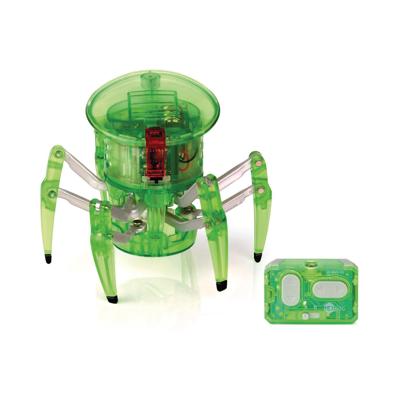Микро-робот на управлении Спайдер, зеленый, HexbugИнтерактивные игрушки для малышей<br>Микро-робот на управлении Спайдер, зеленый, Hexbug (Хексбаг)<br><br>Характеристики:<br><br>• передвигается в любых направлениях<br>• светящийся глаз<br>• двухканальное управление<br>• для работы необходимы батарейки AG13 - 5 шт.<br>• размер: 7,7х9,1 см<br>• вес: 43 грамма<br>• цвет: зеленый<br><br>Микро-робот Спайдер - очень быстрый паучок, которым вы сможете управлять самостоятельно с помощью дистанционного пульта. По команде робот способен передвигаться в любую указанную сторону и вращаться на 360 градусов. Двухканальное управление позволит вам устроить настоящие гонки для двух роботов. Микро-робот Спайдер - интересный и увлекательный подарок для всей семьи!<br><br>Микро-робота на управлении Спайдер, зеленый, Hexbug (Хексбаг) вы можете купить в нашем интернет-магазине.<br><br>Ширина мм: 100<br>Глубина мм: 110<br>Высота мм: 130<br>Вес г: 126<br>Возраст от месяцев: 36<br>Возраст до месяцев: 2147483647<br>Пол: Унисекс<br>Возраст: Детский<br>SKU: 5507219